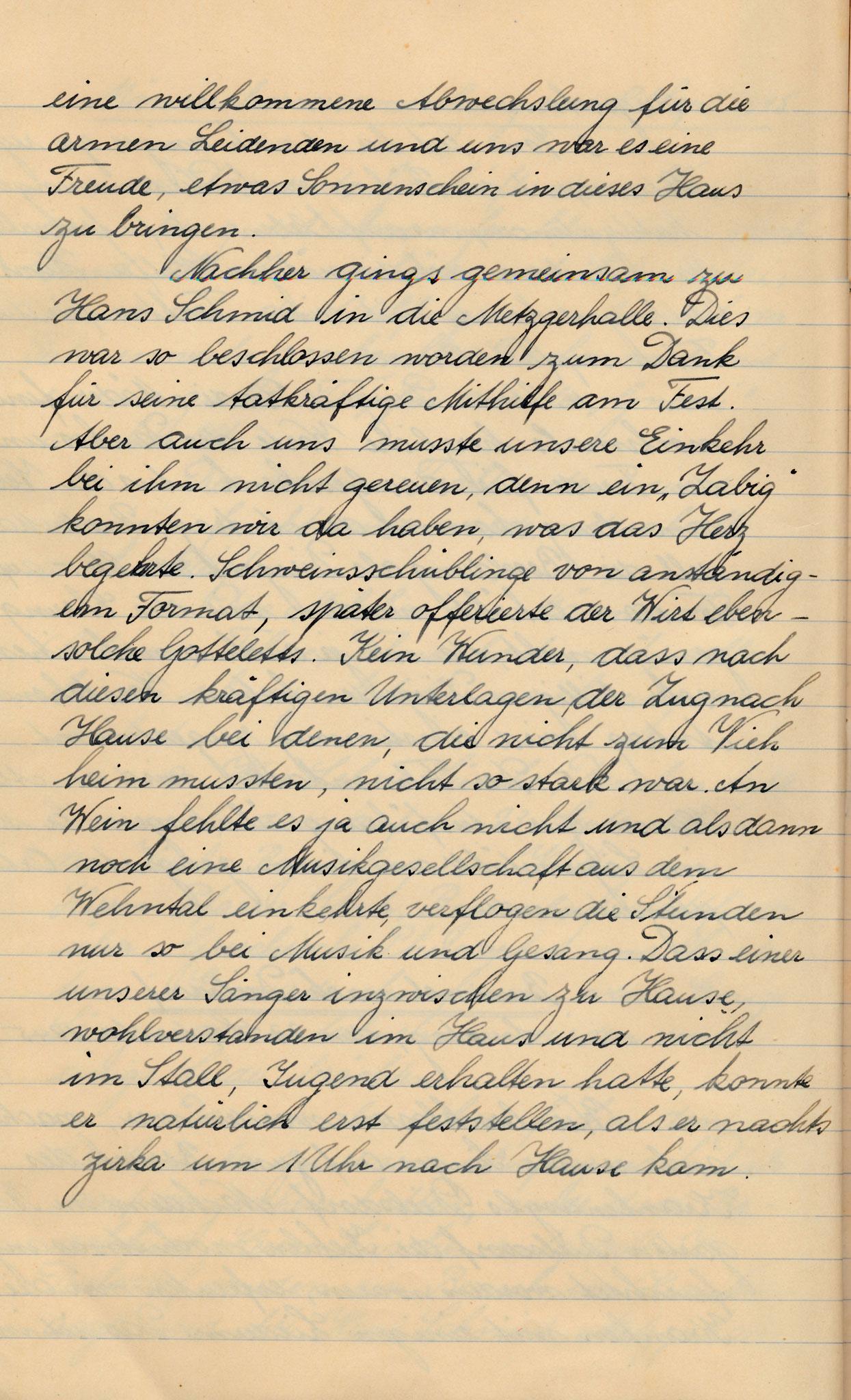 Besuch Rest. Metzgerhalle Dielsdorf::So 23. Sept. 1945