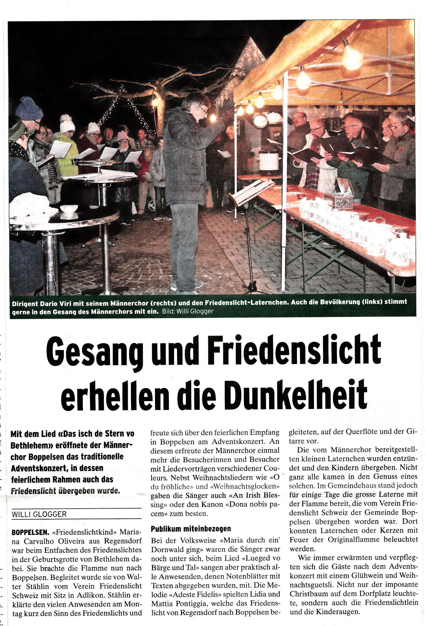 Bericht von Willi Glogger im Furttaler vom 16.12.2016