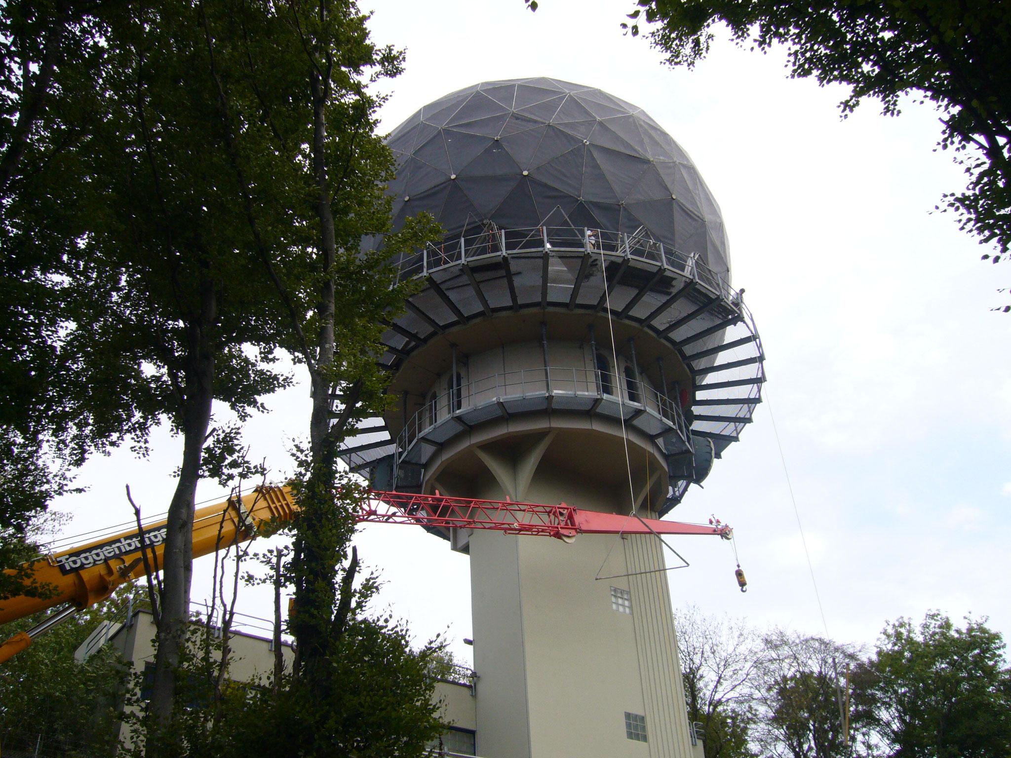 2006::Radar- und Radomersatz::Abbruchbeginn