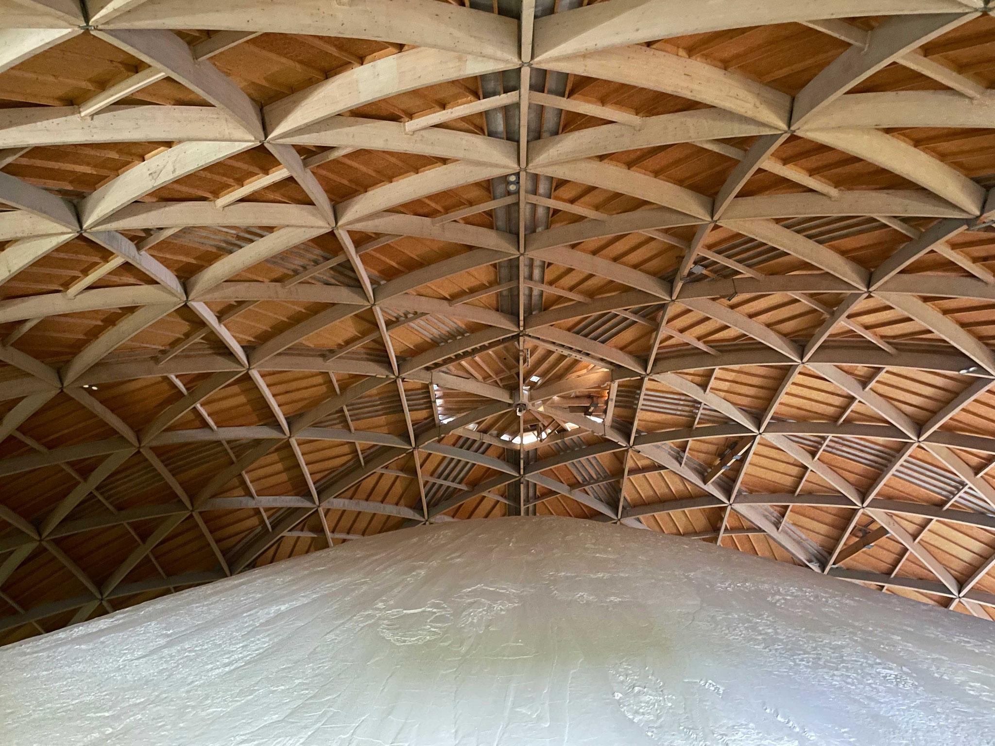 Eindrückliche Holzkonstruktion / Ø 120m / Höhe: 32m / Holzkonstruktion: 1300m3 Holz oder 500 Bäume