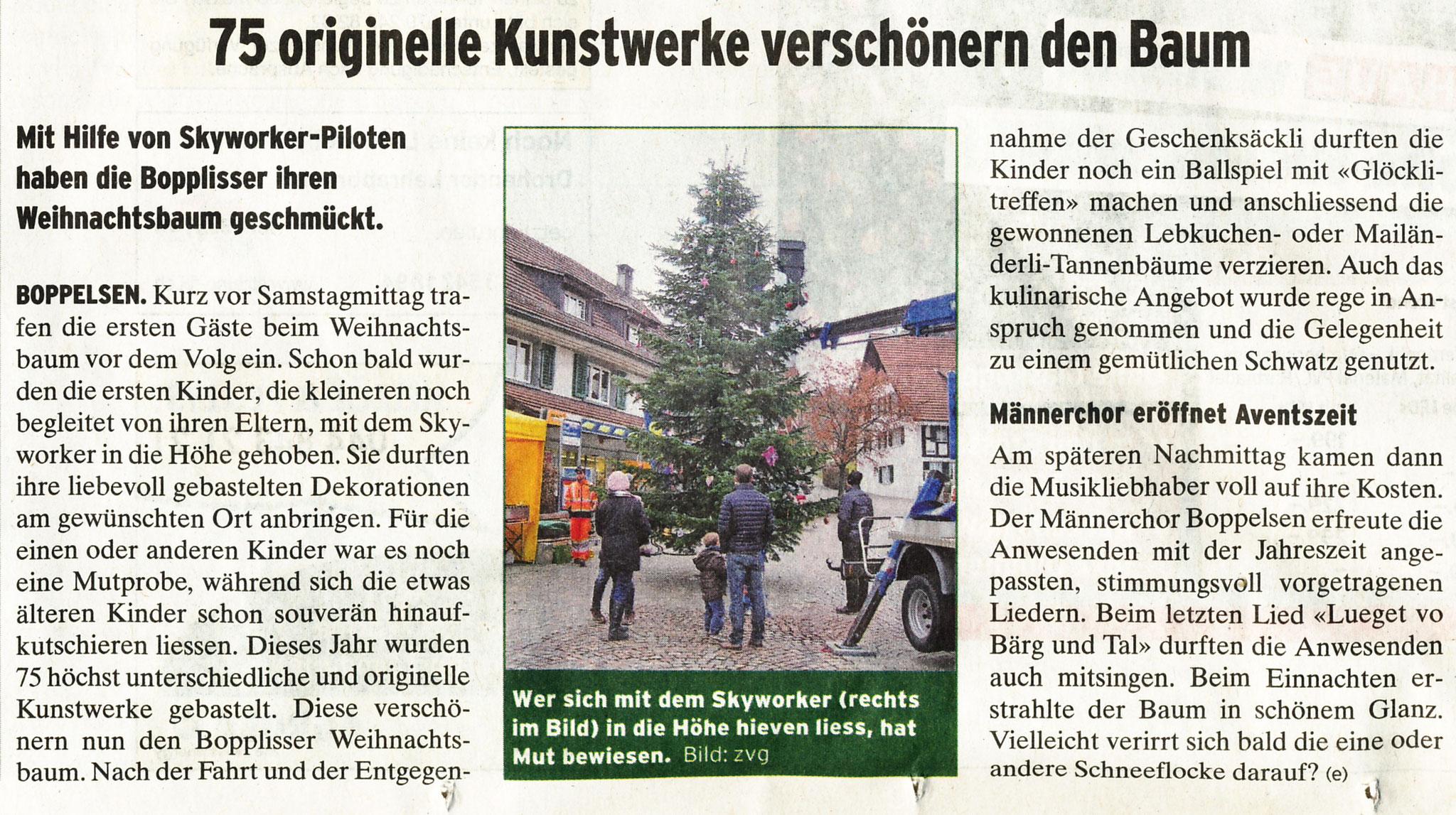 2.12.2016::Bericht im Furttaler