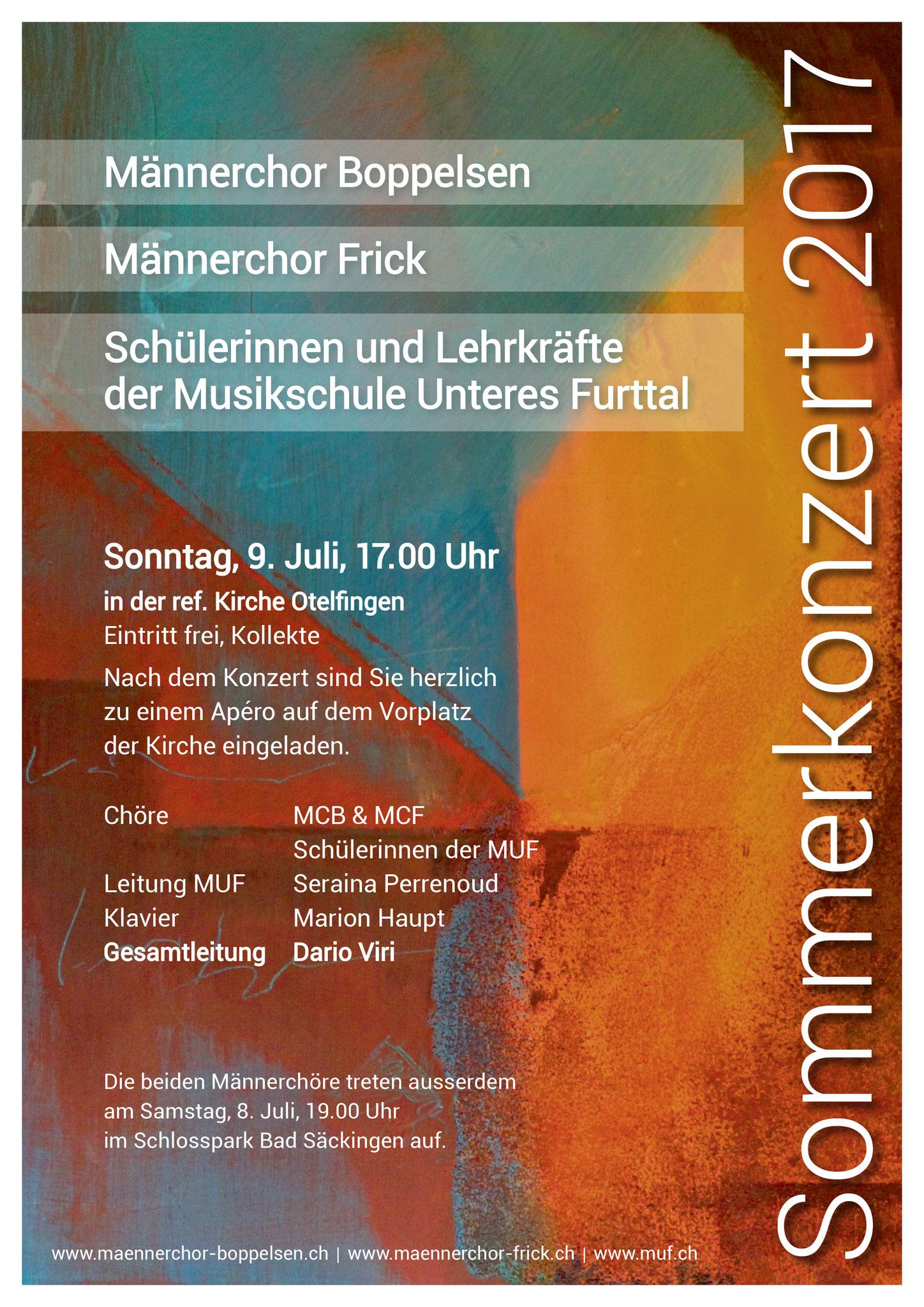 Flyer: gestaltet von Othmar Eigenmann, Otelfingen