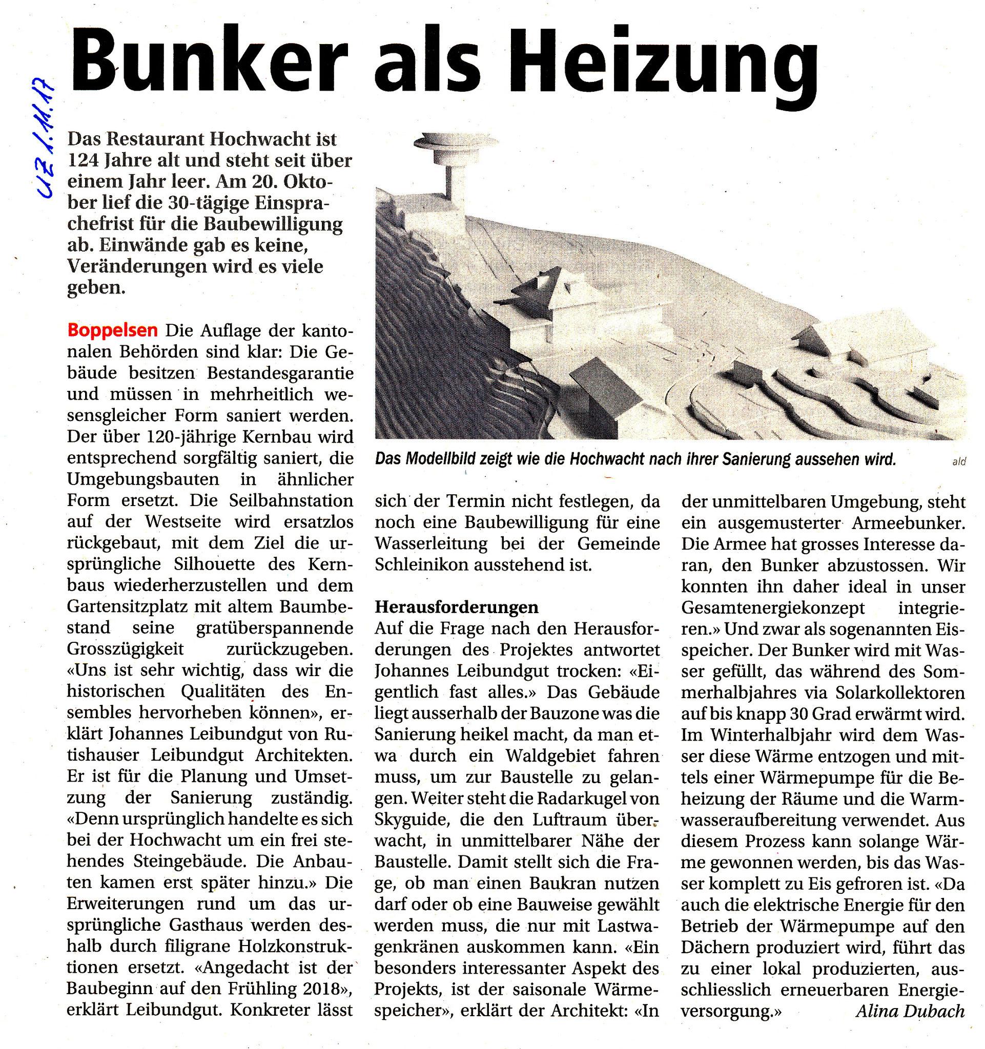 1.11.2017::Unterland Zeitung