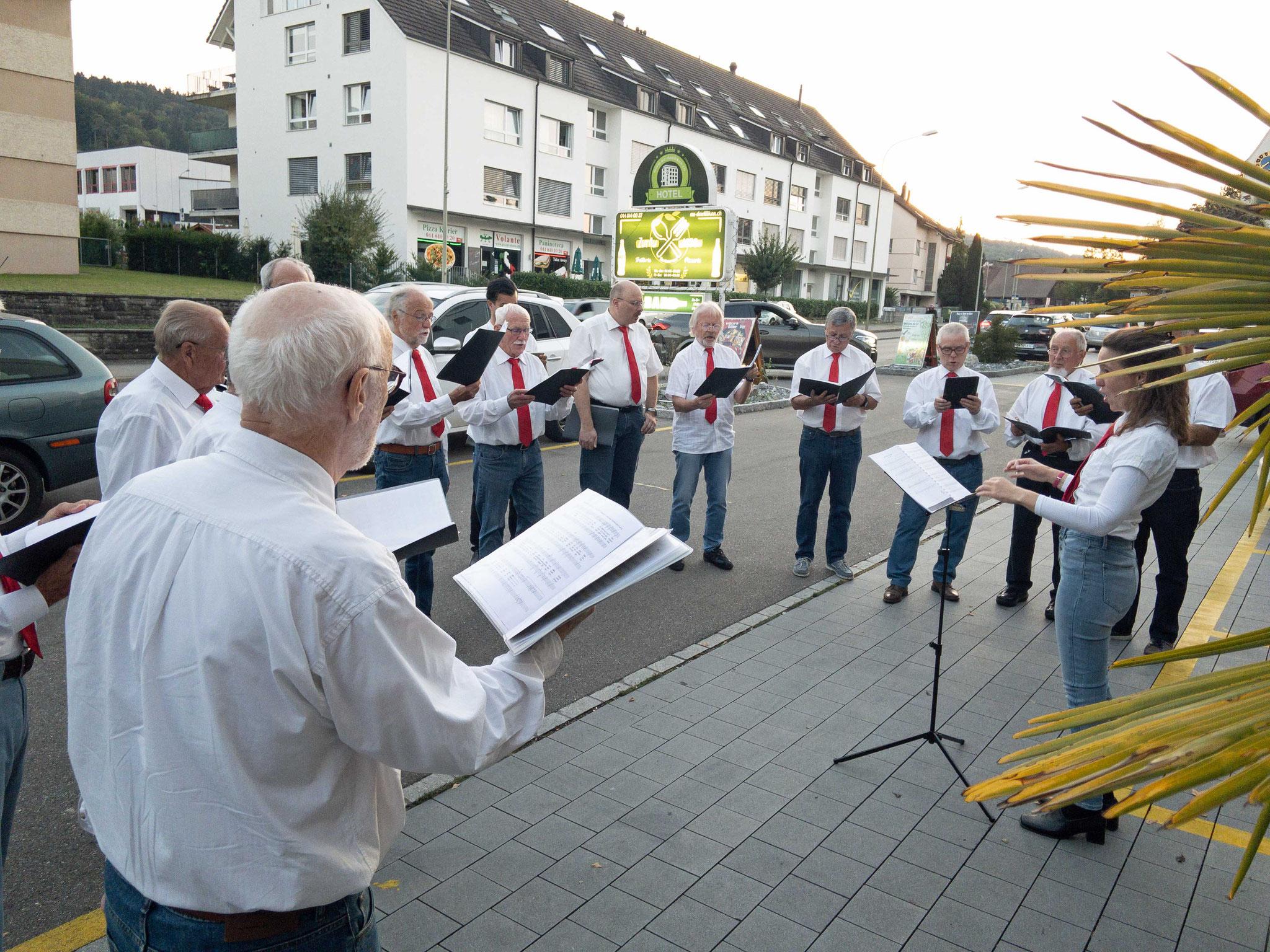 Auftritt beim Hotel-Restaurant Zur Au, Dällikon