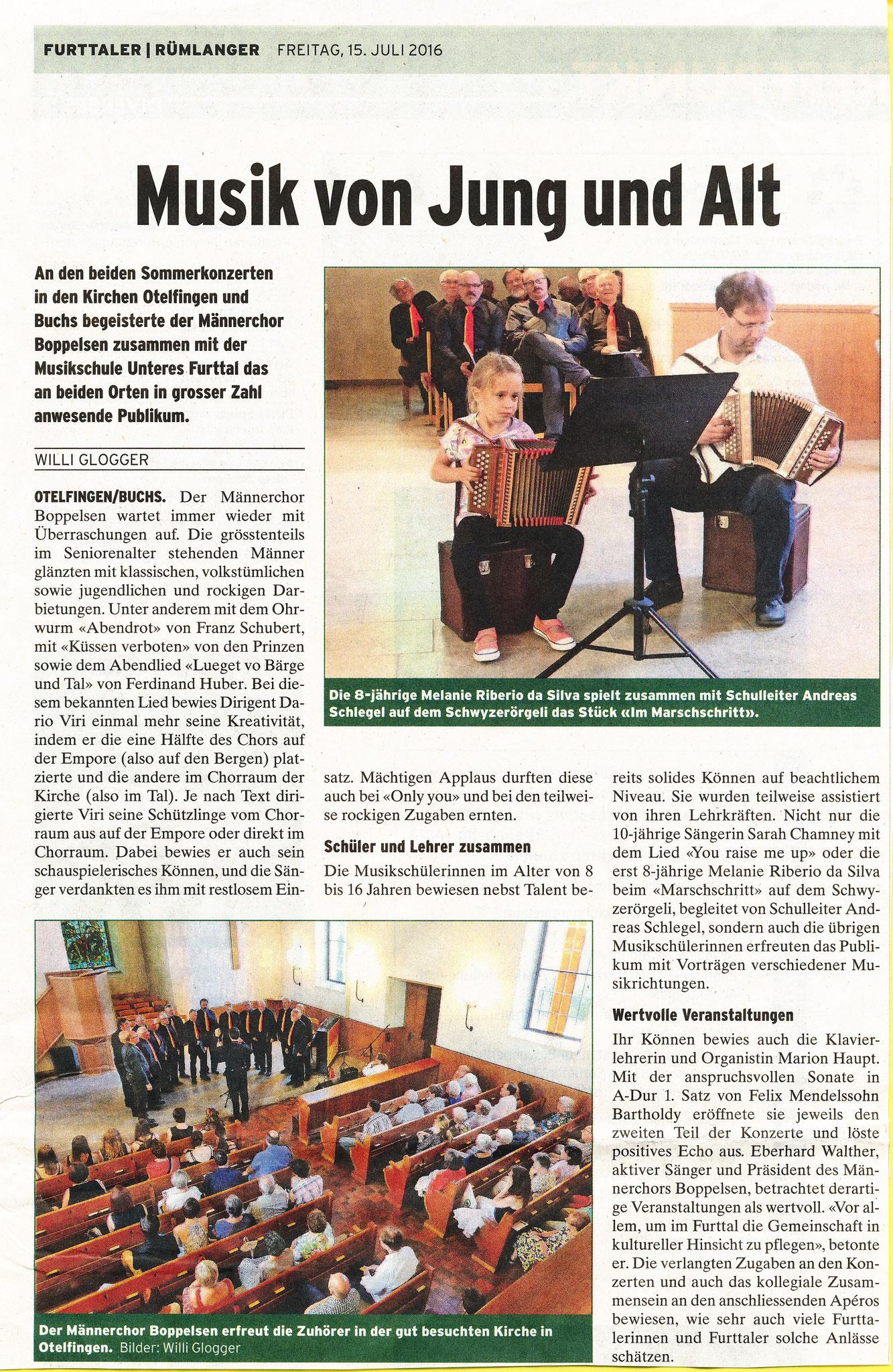Sommerkonzerte 2016::Furttaler 15.7.2016