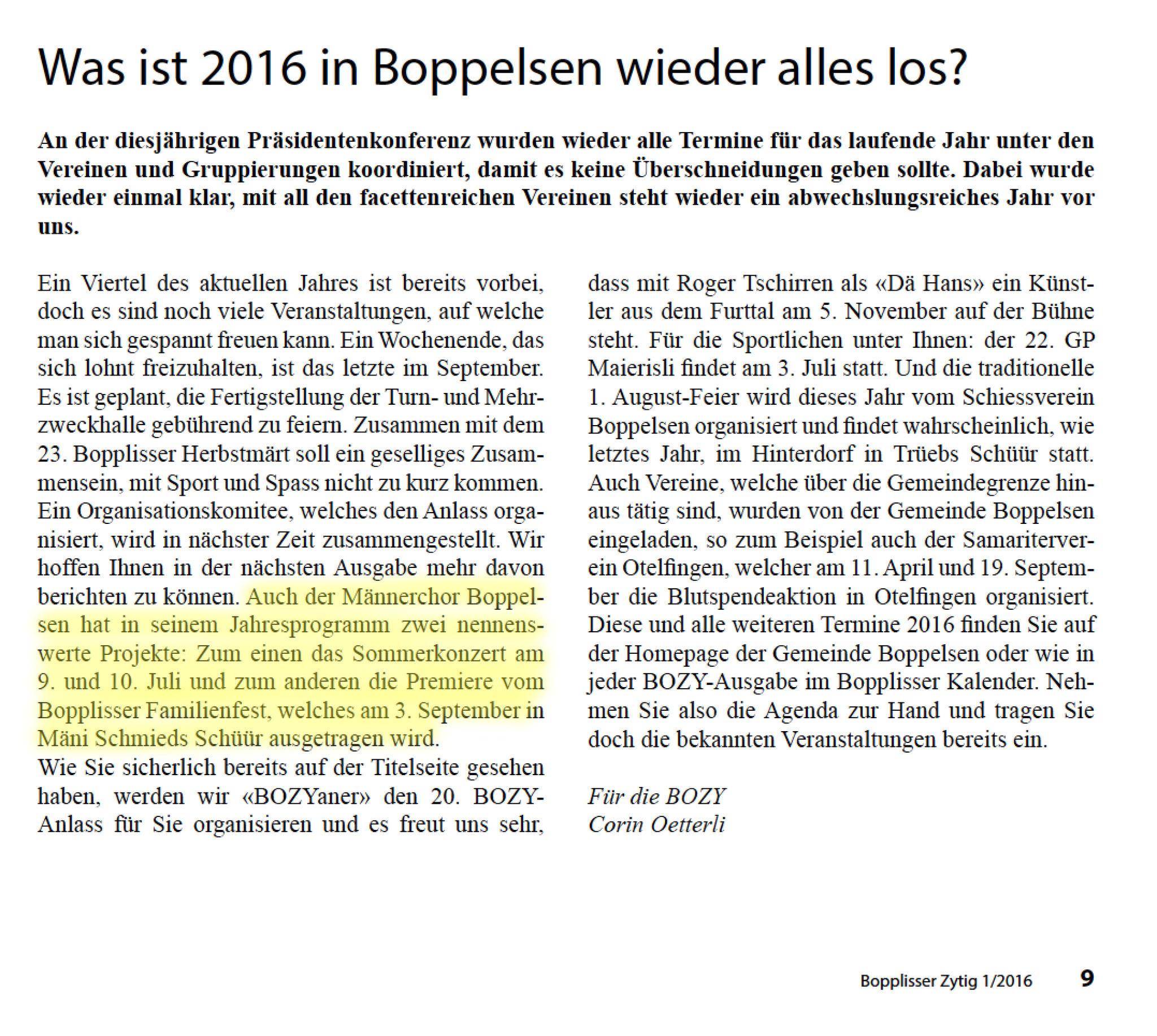 Bozy 1/2016::Vorankündigungen