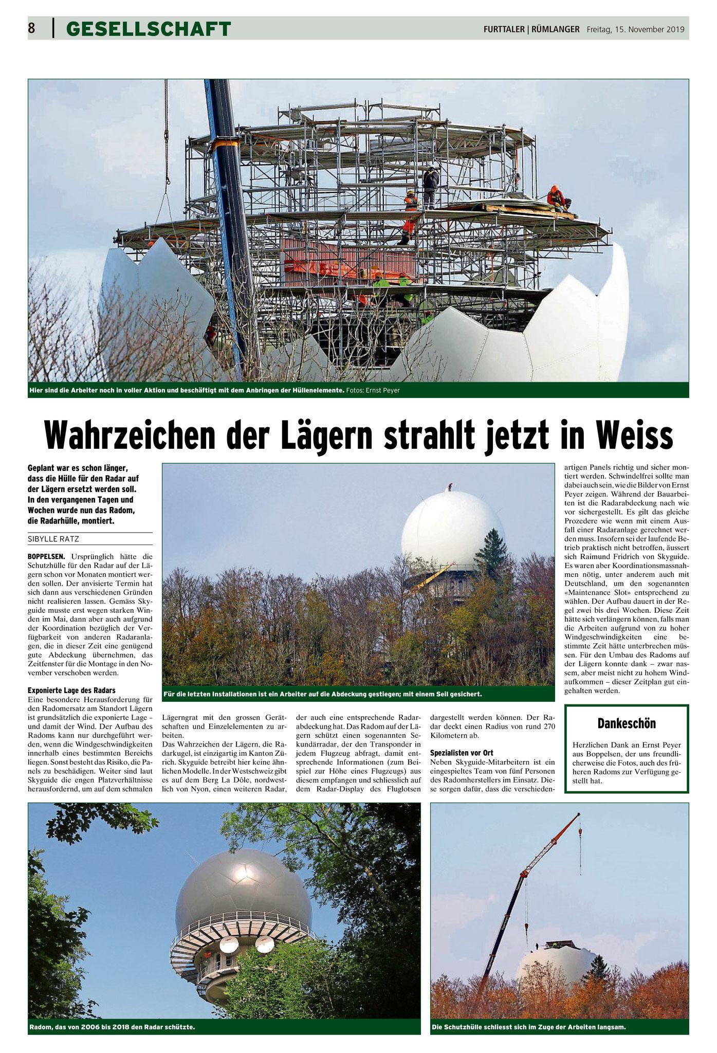 15.11.2019::Bericht im Furttaler::Fotos: Ernst Peyer