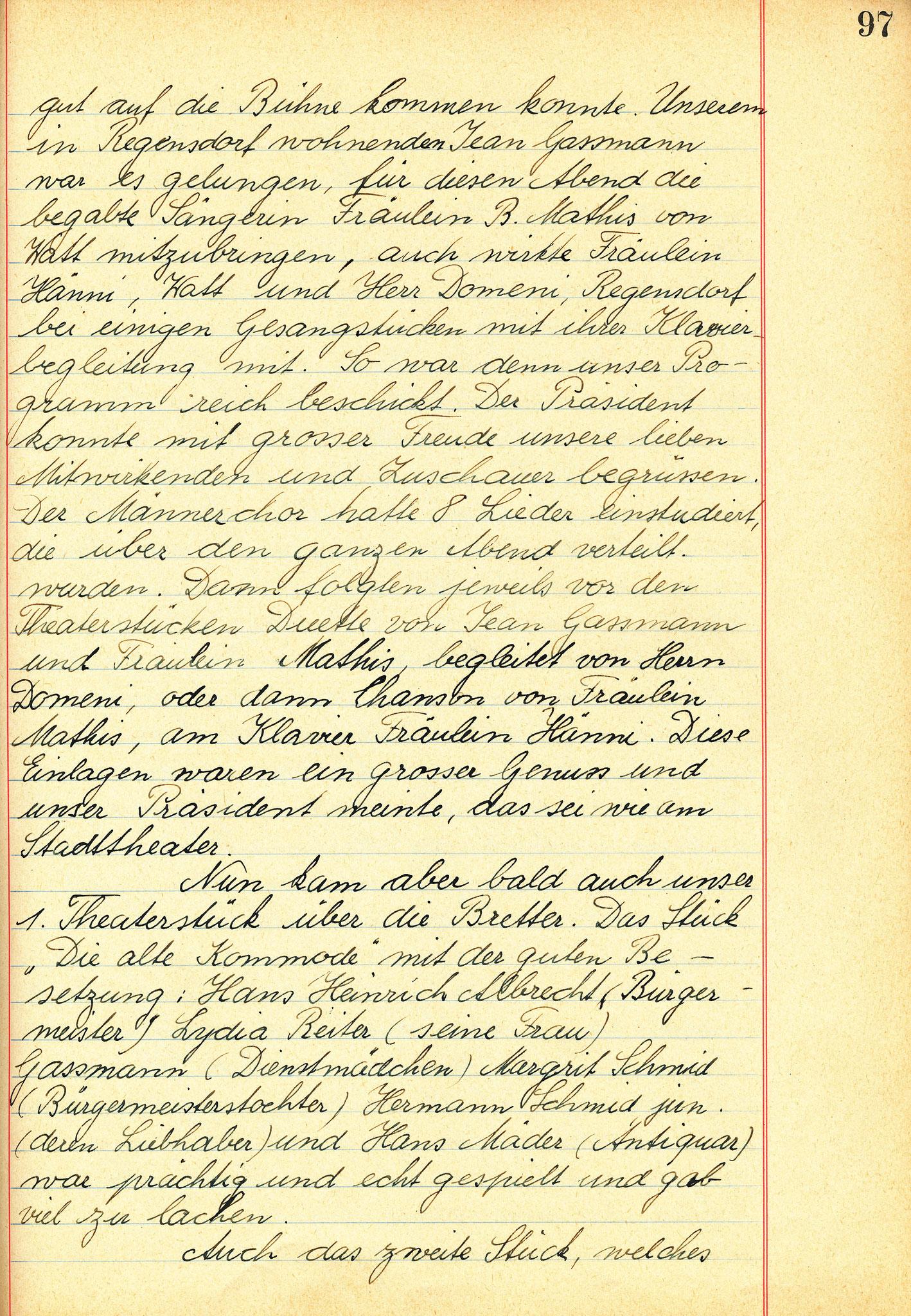 Dorfabend im Lägernstübli 27.2.1960::2.Teil