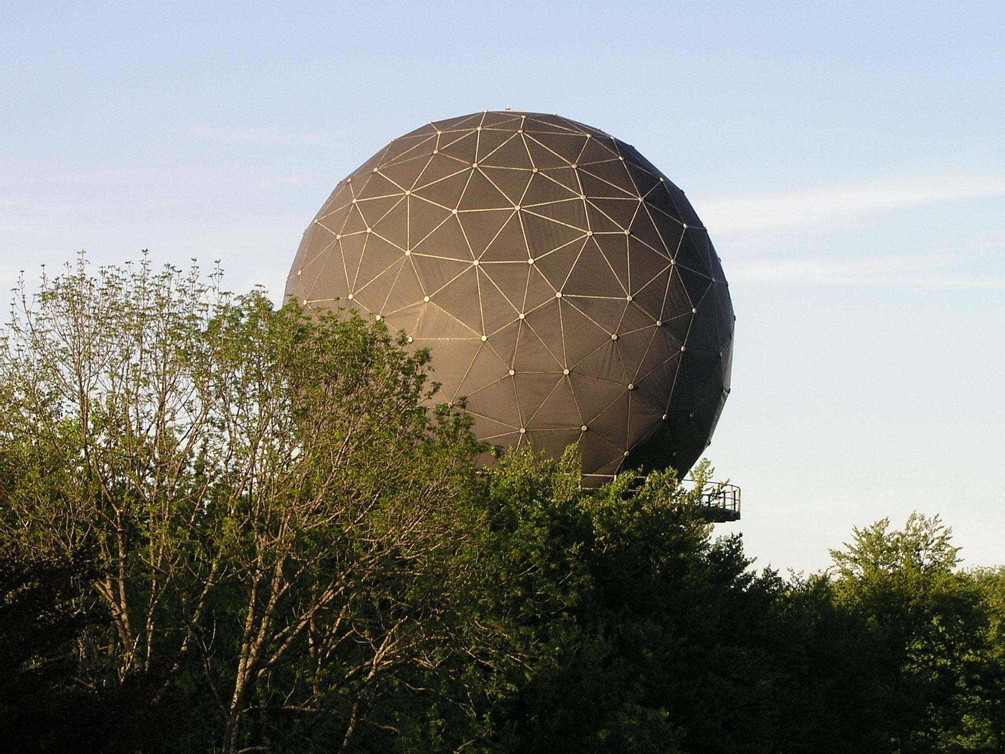 2006::Kurz vor Abbruch des ersten Radoms