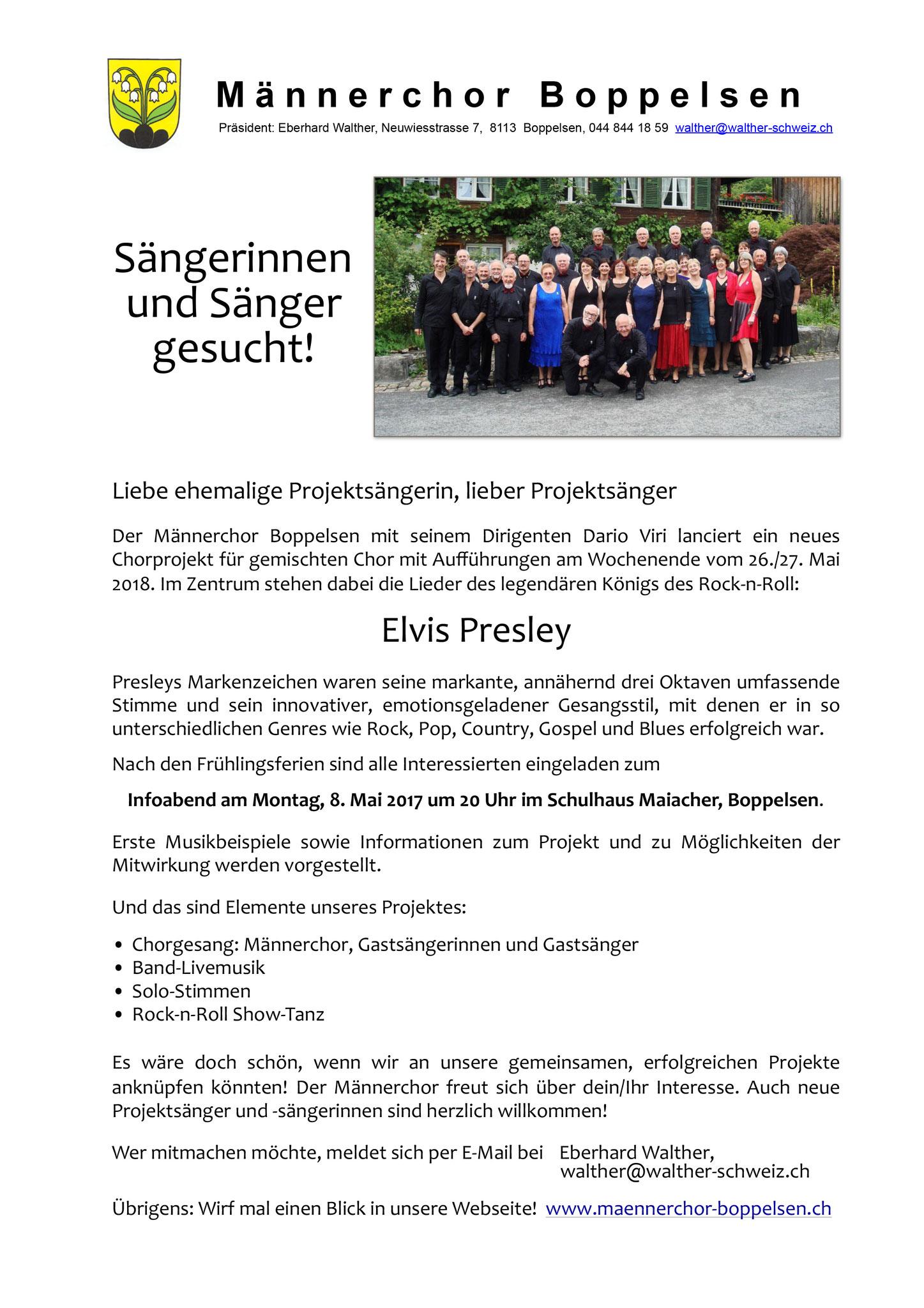 Sängerinnen und Sänger gesucht!