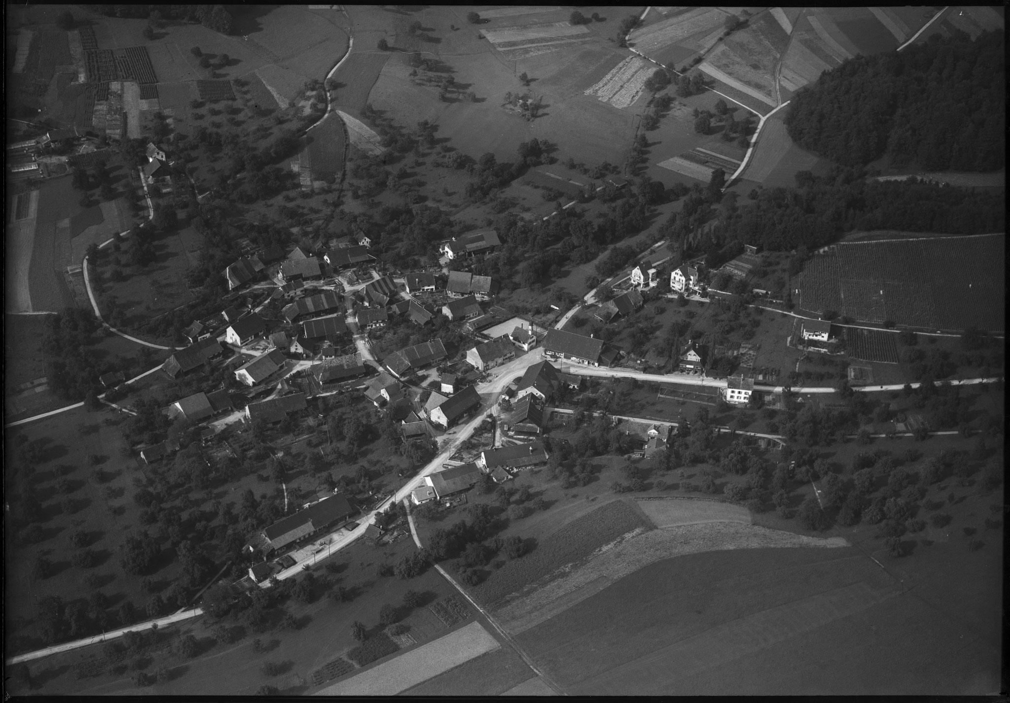 Boppelsen Aug. 1948 / Fotograf: Friedli, Werner / tiefgeflogen (schräg) / ETH-Bibliothek Zürich, Bildarchiv/Stiftung Luftbild Schweiz /LBS_H1-010897 / CC BY-SA 4.0