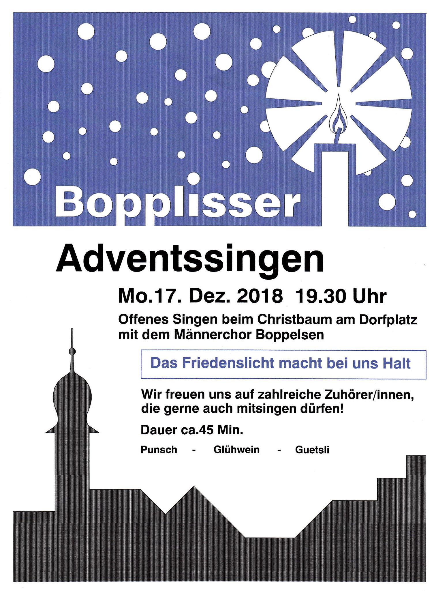 Adventssingen-Flyer 2018