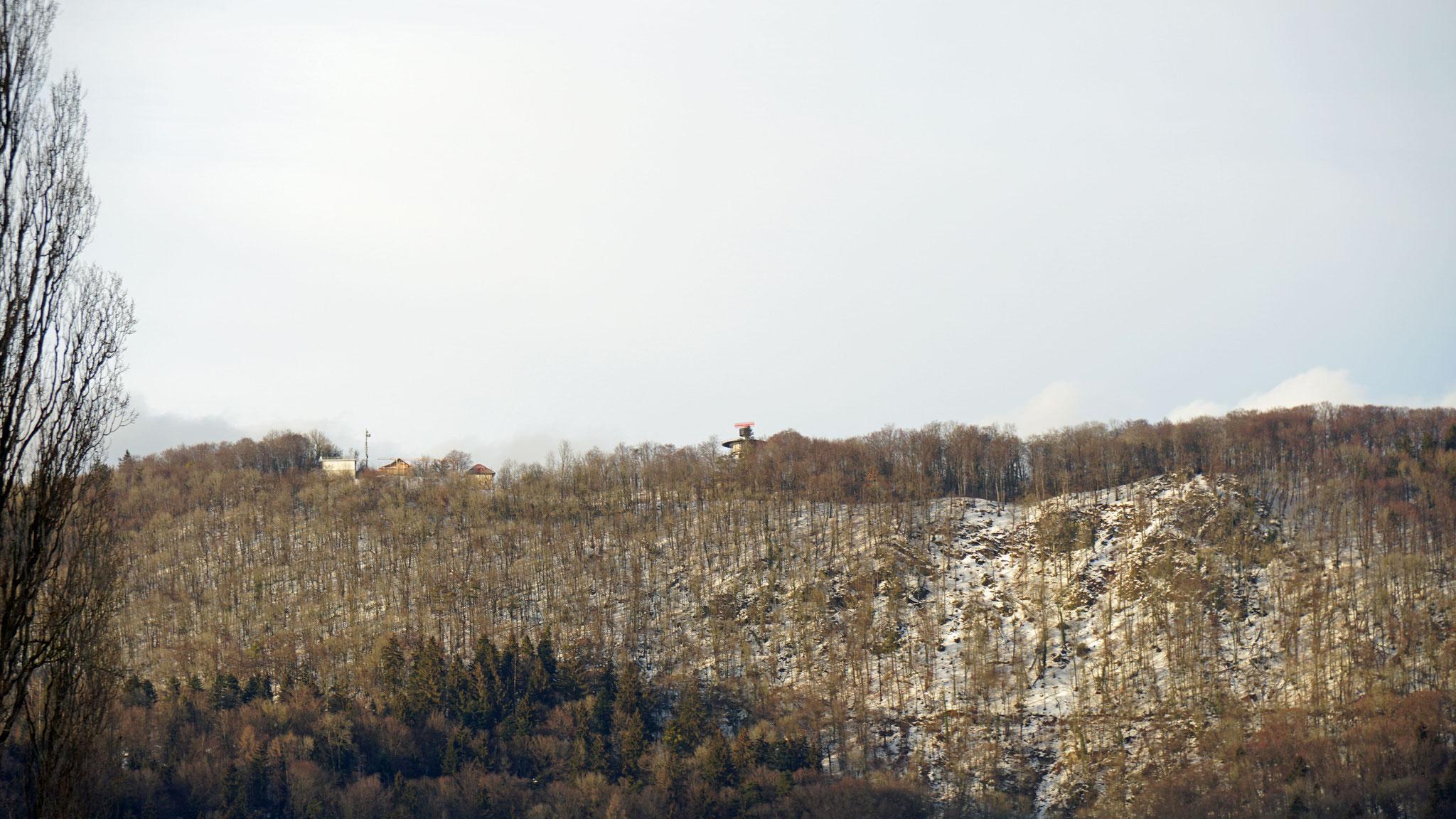 15.1.2019::Blick vom  Farissen zur Hochwacht::Radar ohne Hülle (Radom)