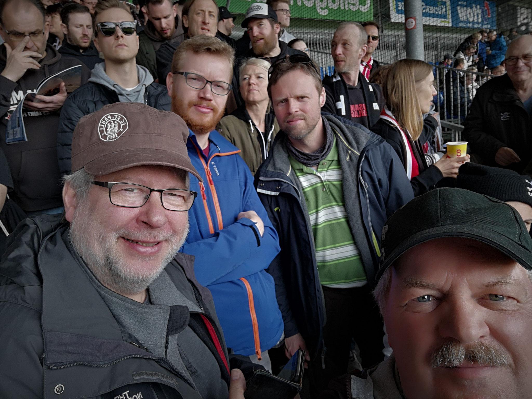 Dabei im Auswärtsspiel in Kiel: Markus Wiorek, Markus Hoppe, Thomas Hoppe und Thomas Möhring (von links nach rechts)