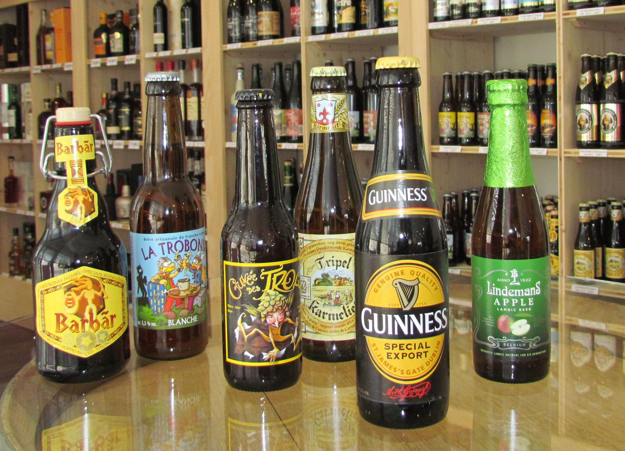 Grand choix de bières