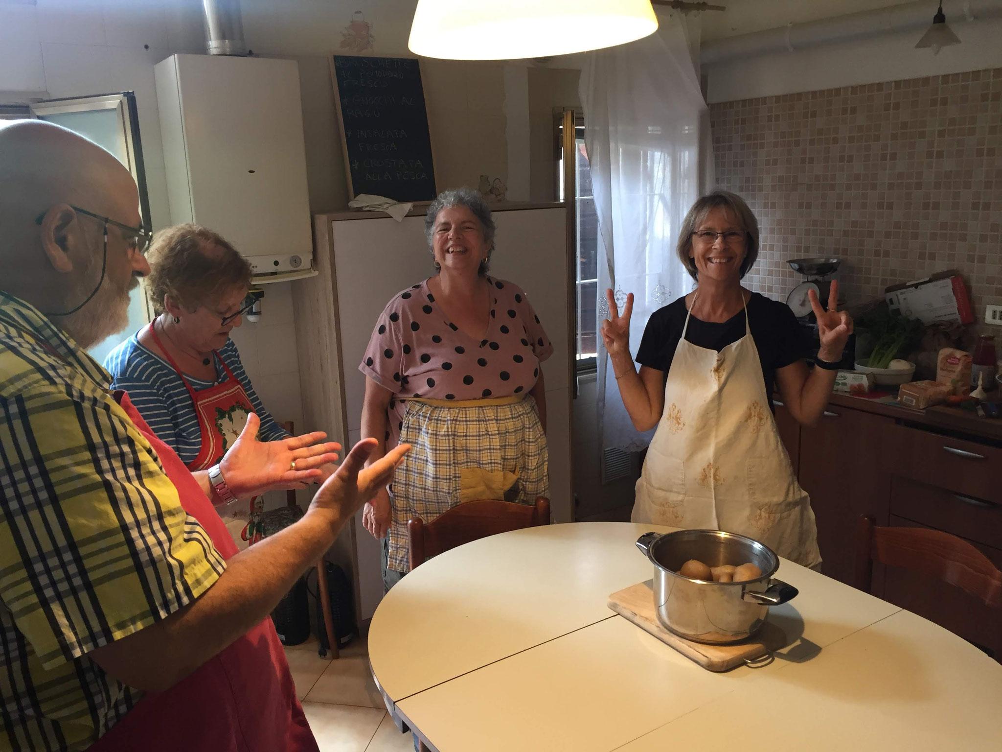 A lezione di cucina