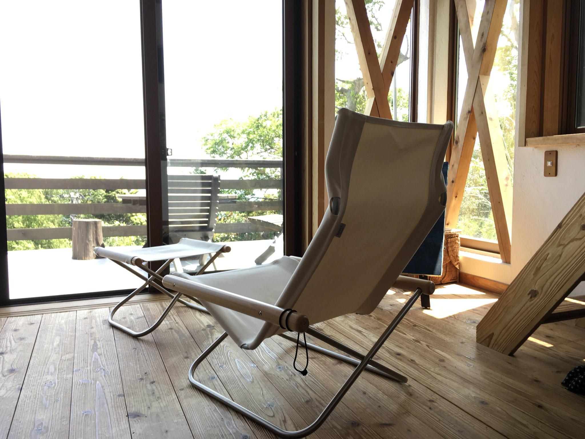 お気に入りの椅子 私の瞑想タイムはここ♪