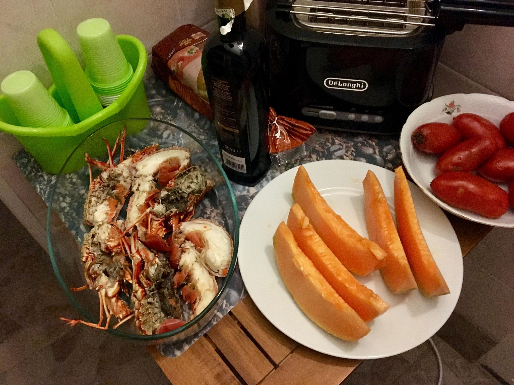 Lobster for dinner in Castelsardo