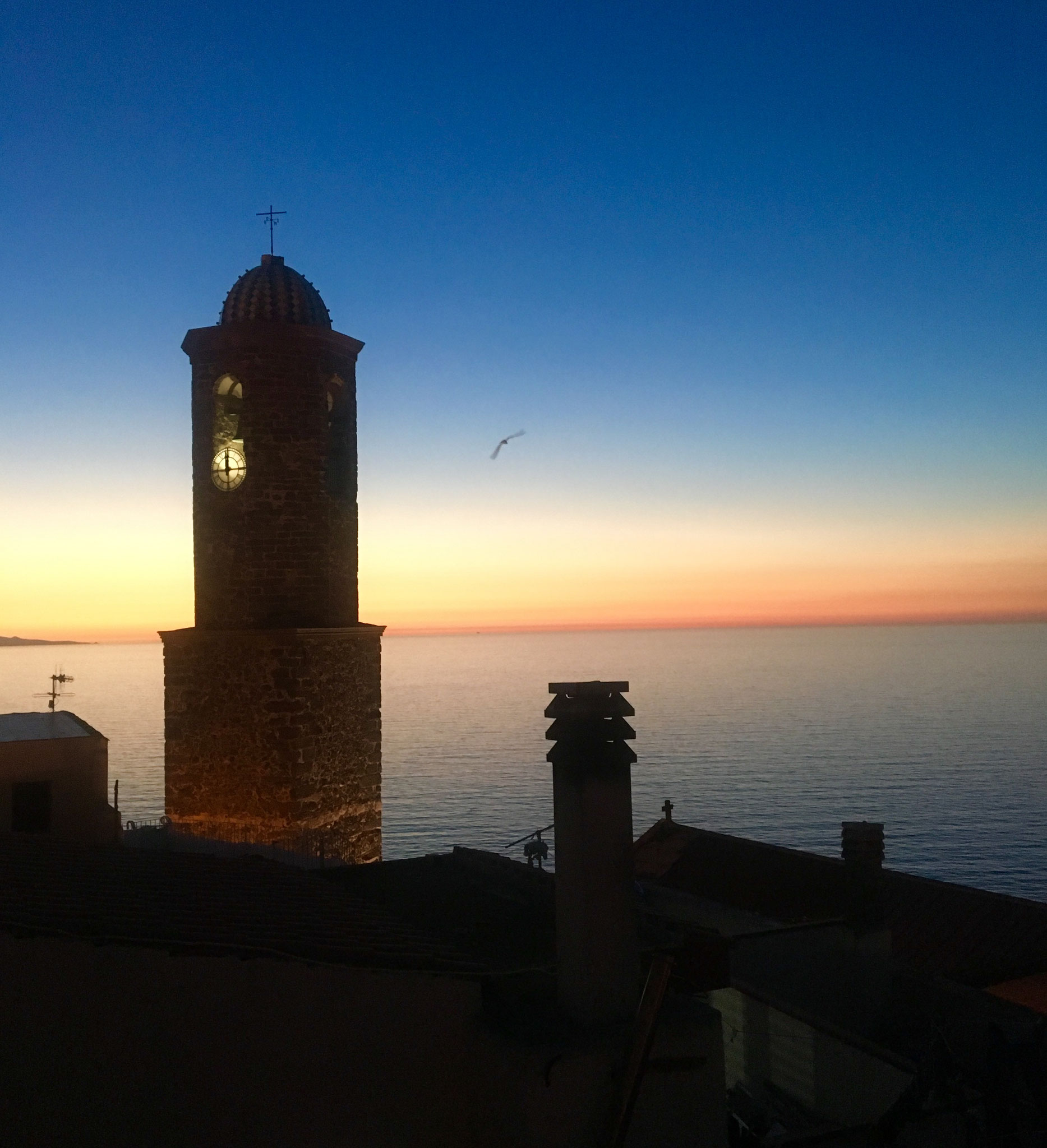 Sunset viewing from our terrace in Castelsardo