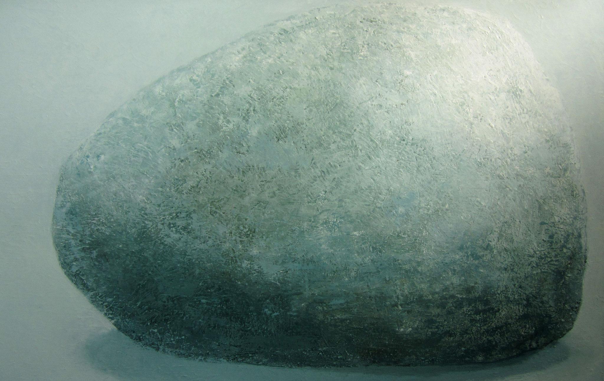 Blauwe kei - 2020 - 100 x 160cm - oil on canvas