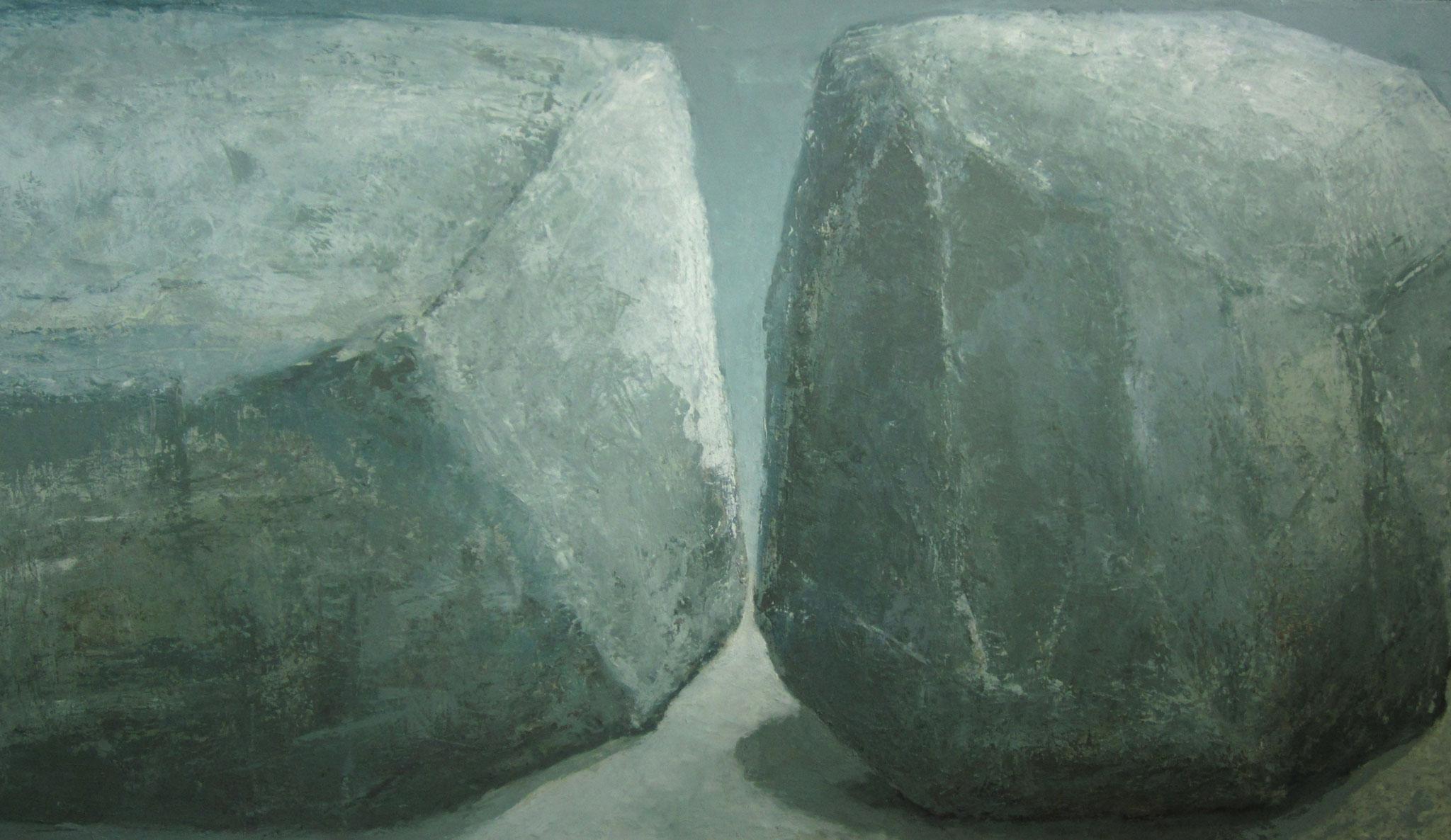 Twee stenen - 2019 - 90 x 160cm - oil on canvas