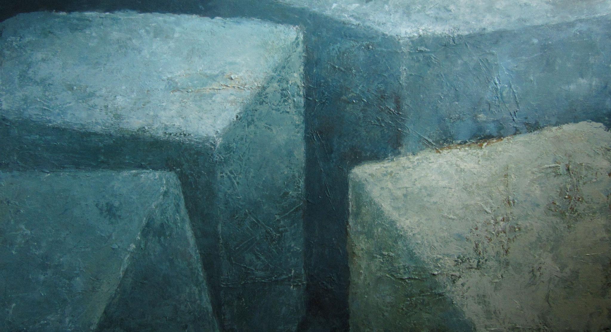 Blauwe stenen - 2017 - 100 x 180cm - oil on canvas
