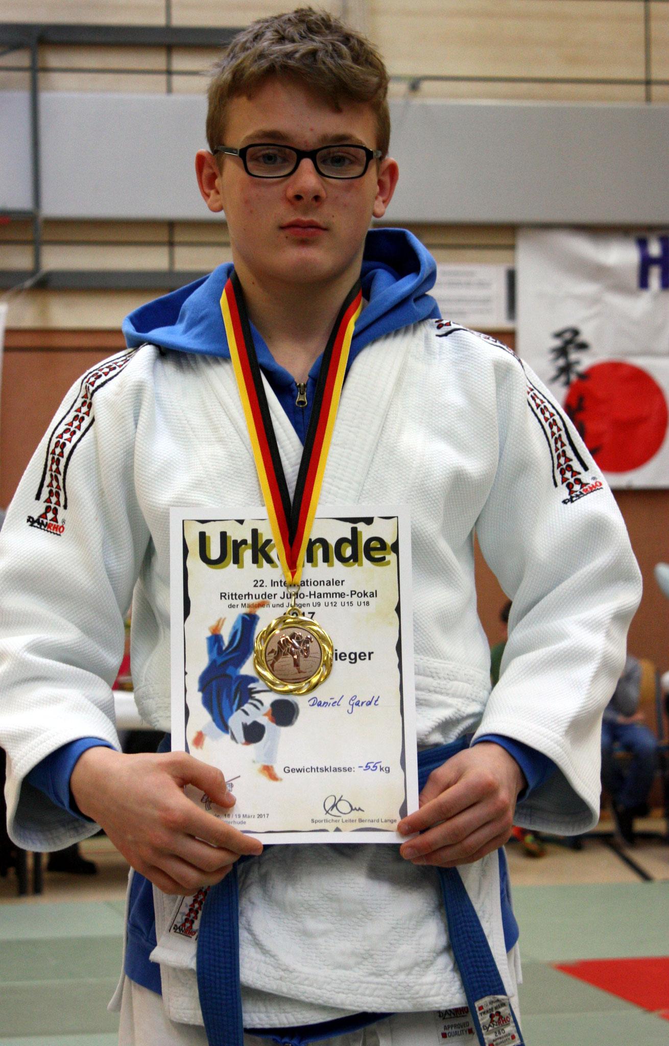 Daniel Gardt mit der Bronzemedaille.