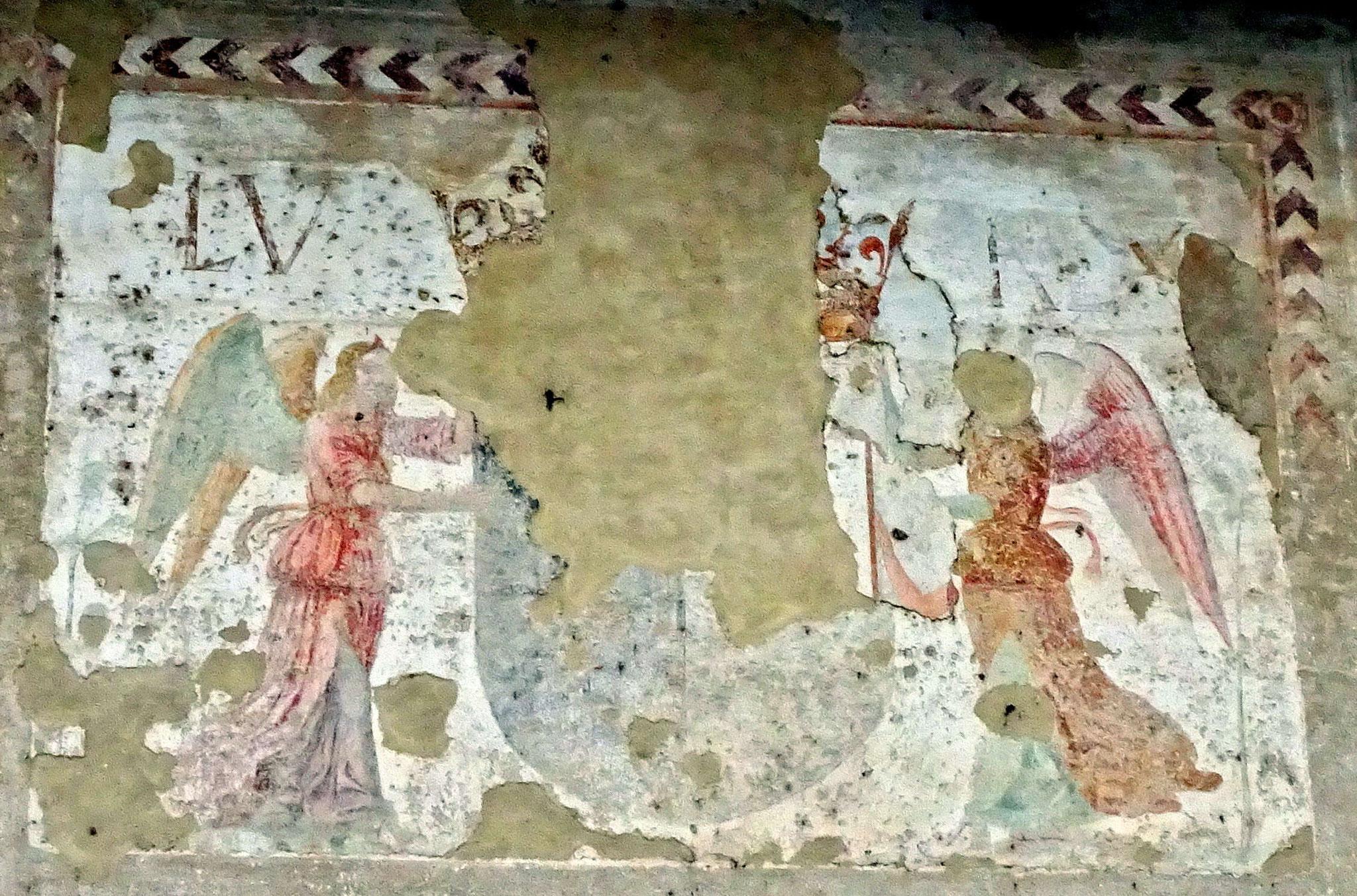 Peinture sur un mur extérieur du Castello Visconti