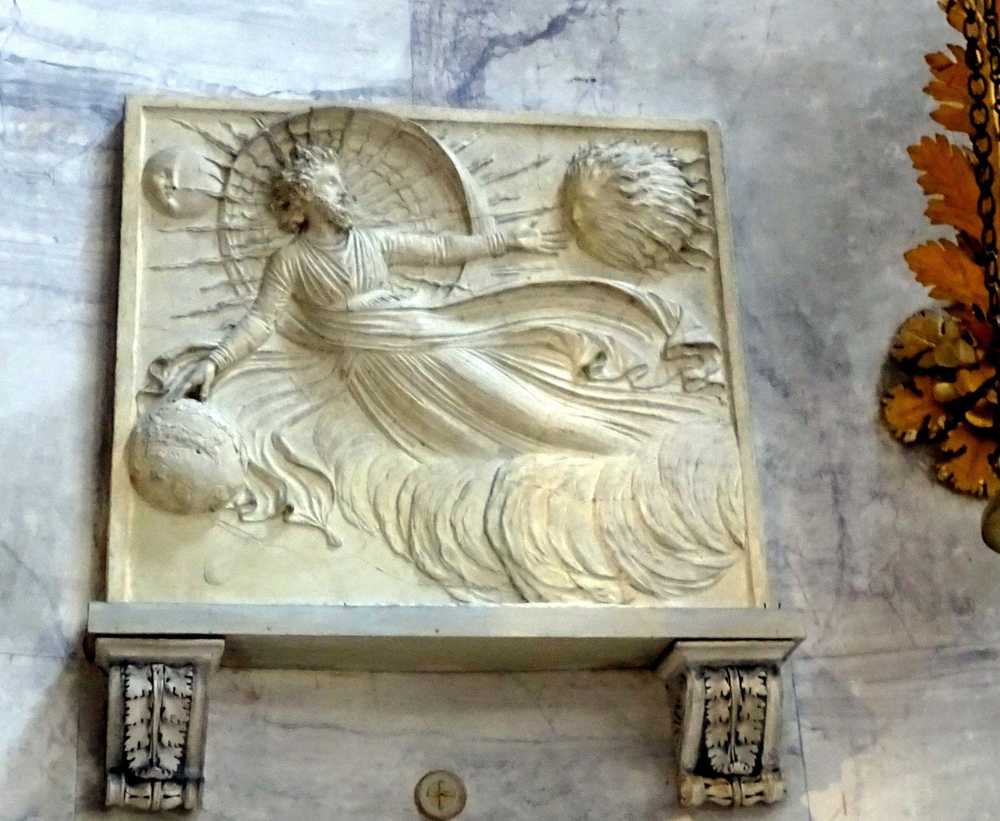 La Création du Monde, sculpture murale de Canova dans son temple-tombeau