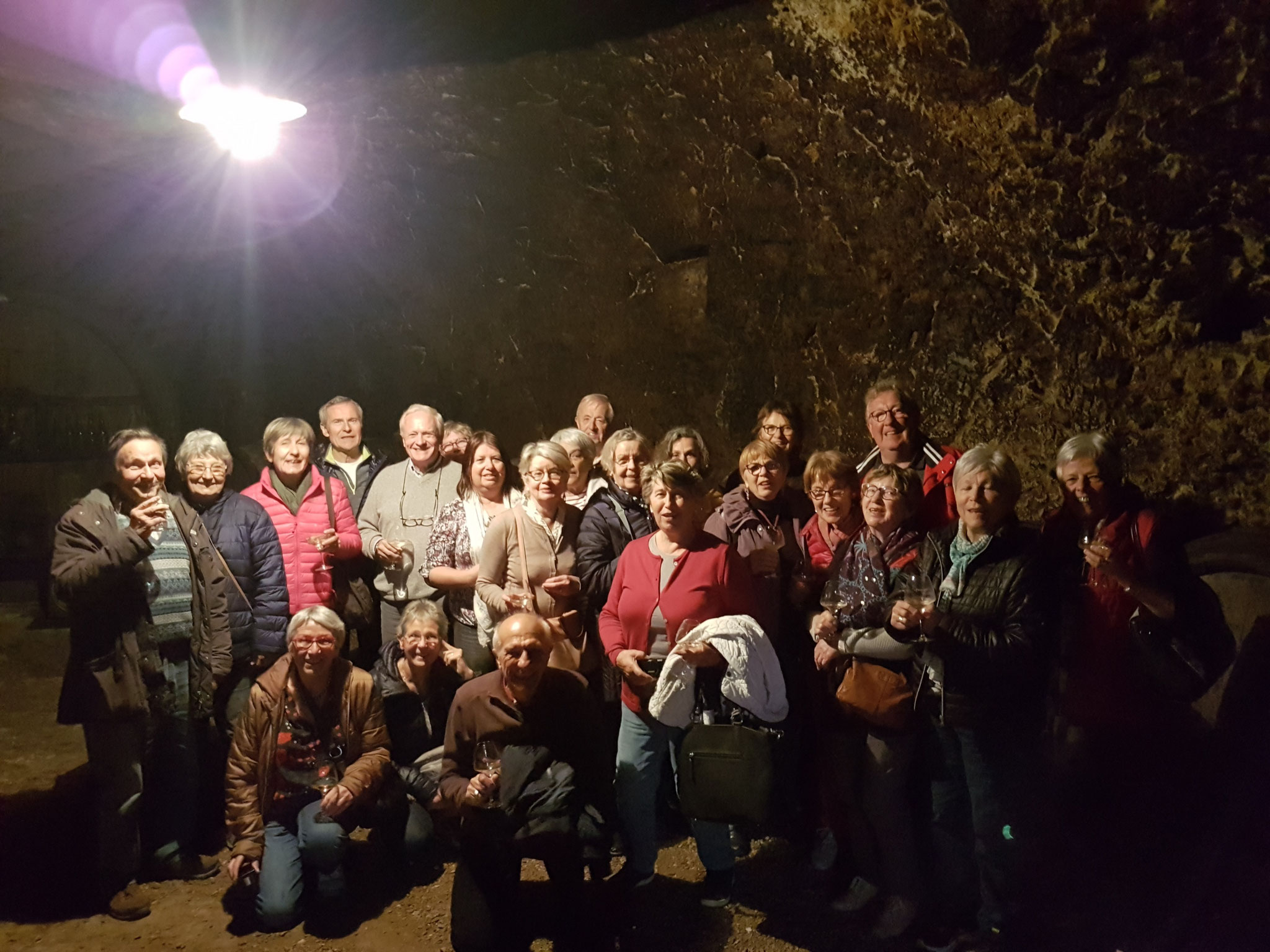 Groupe dans la cave