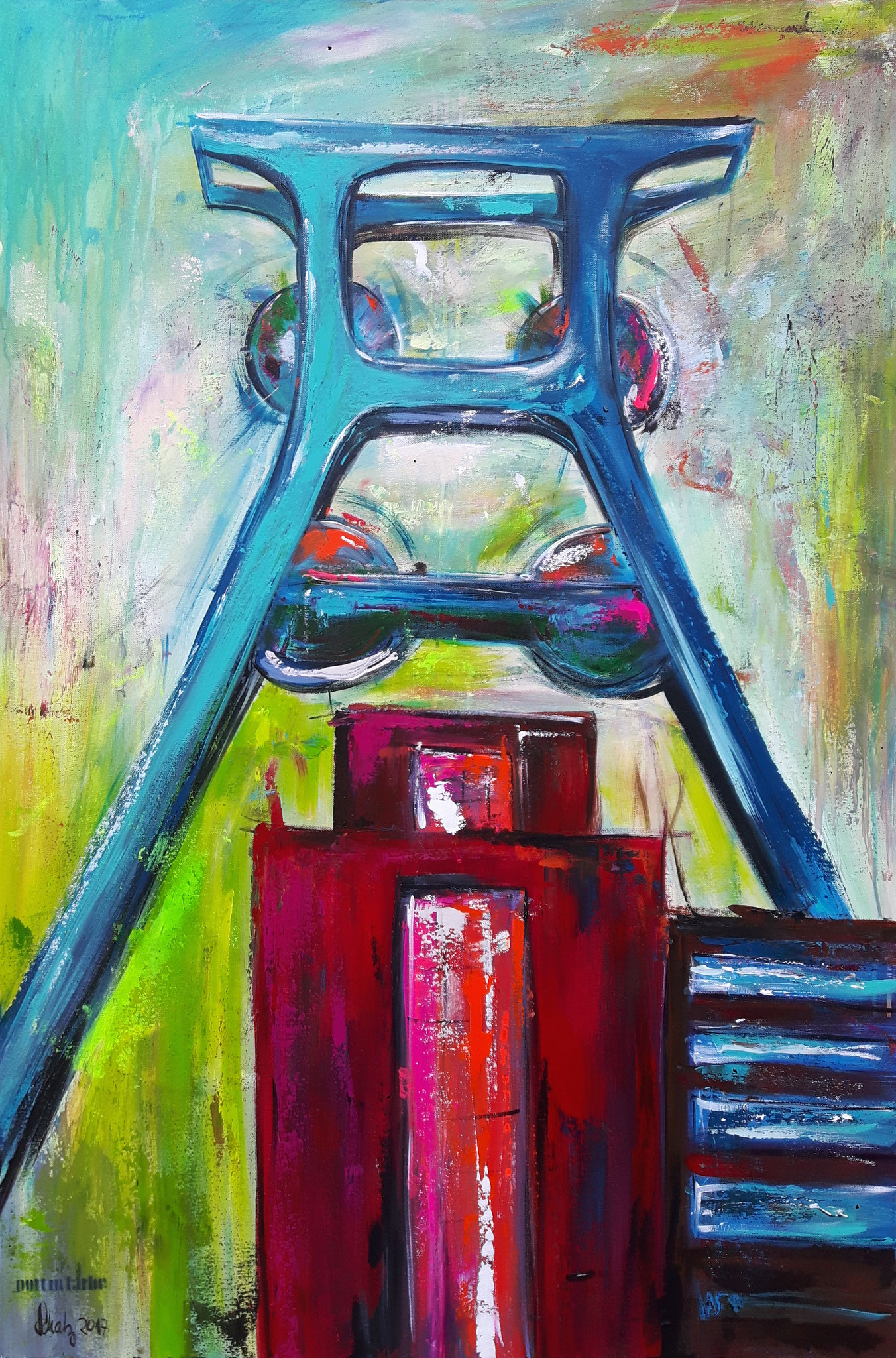 Zollverein red dot       120 x 80 cm