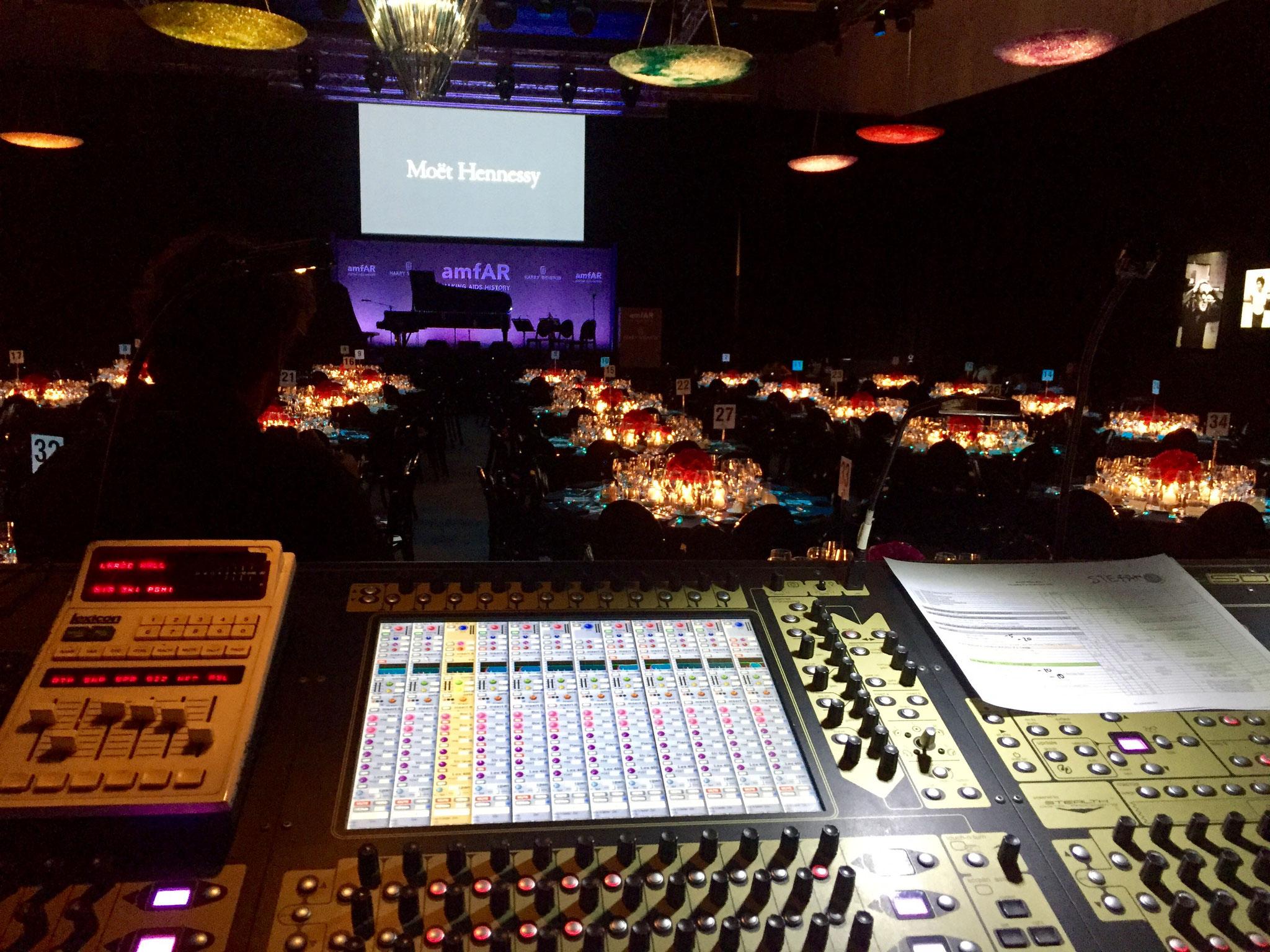 AMFAR MILANO 2017 - AudioProject - FOH