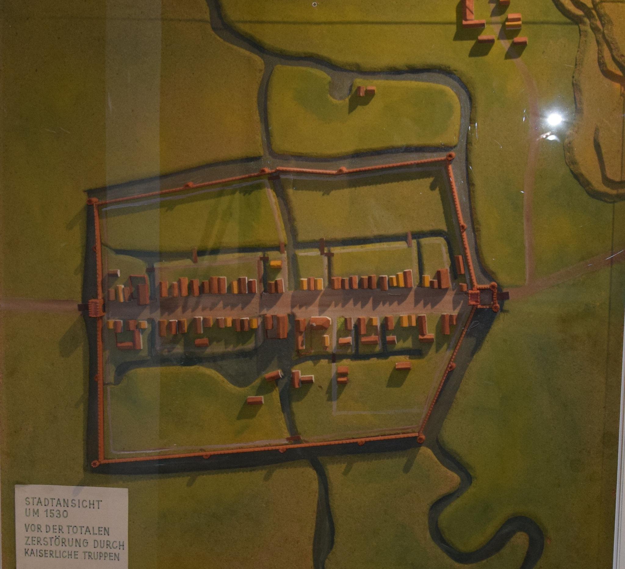 mittelalterliches Stadtmodell