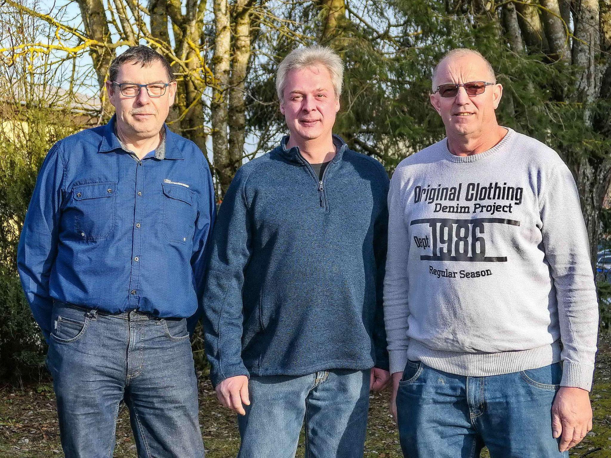 Die neuen Vorstände - v.l: Karl-Heinz Wössner, Gebhard Rall, Karl Baumann