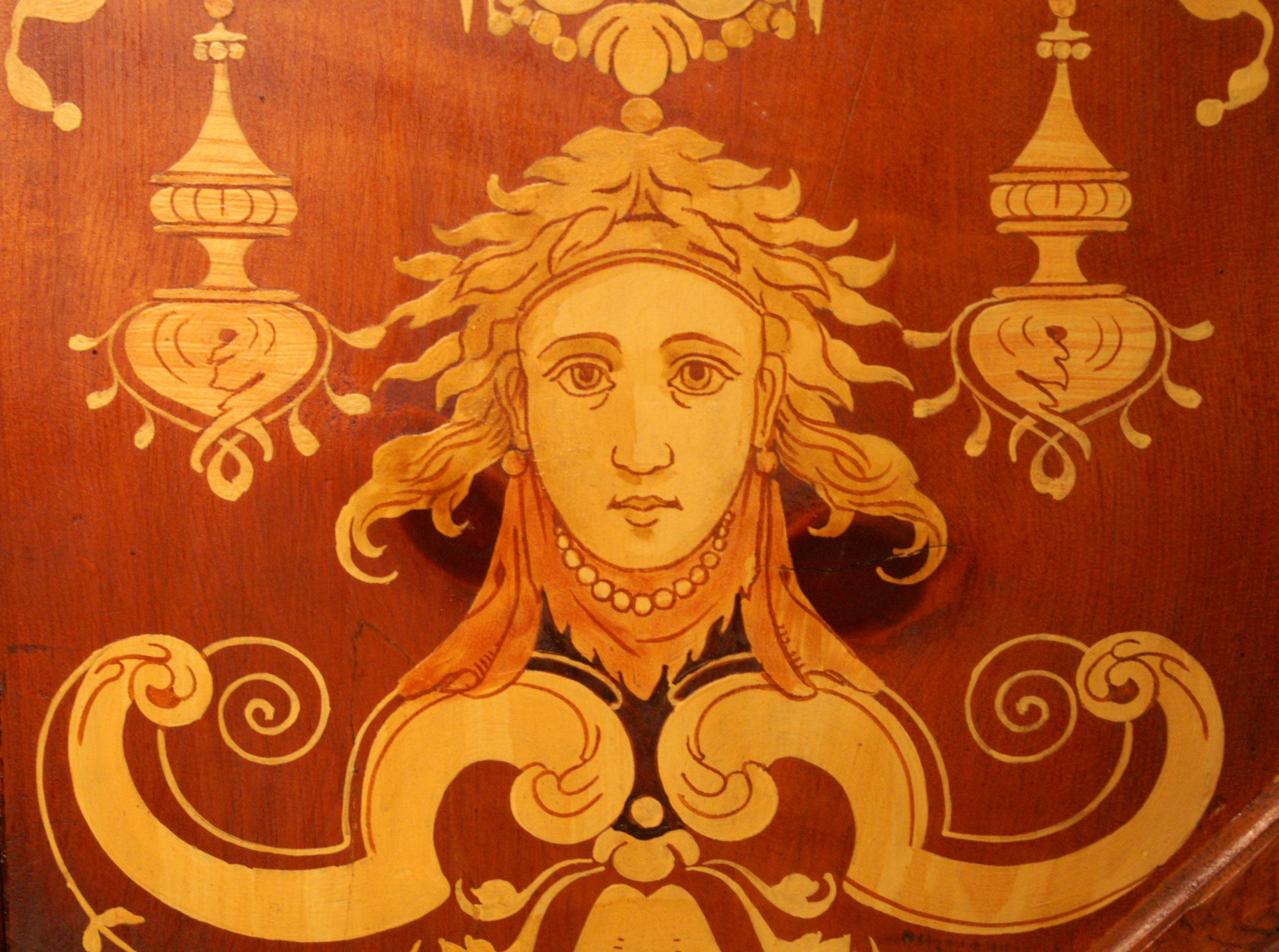 Ausschnitt aus der Deckenmalerei der Ottikerstube