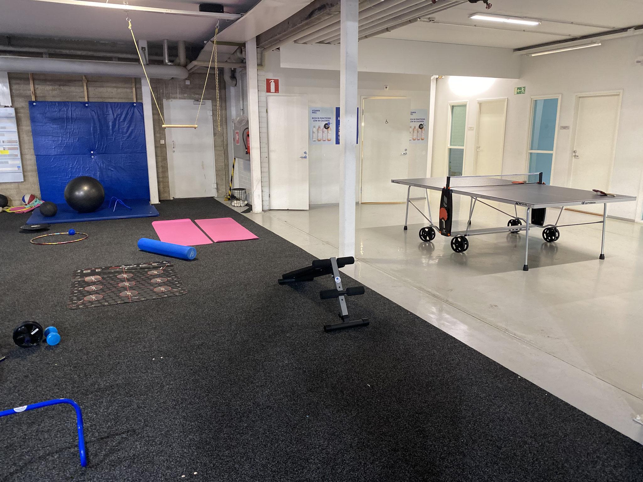 Har du lite yta över? Varför inte ett pingisbord och/eller en mindre CrossFit-avdelning (Padel Park, Åbo)