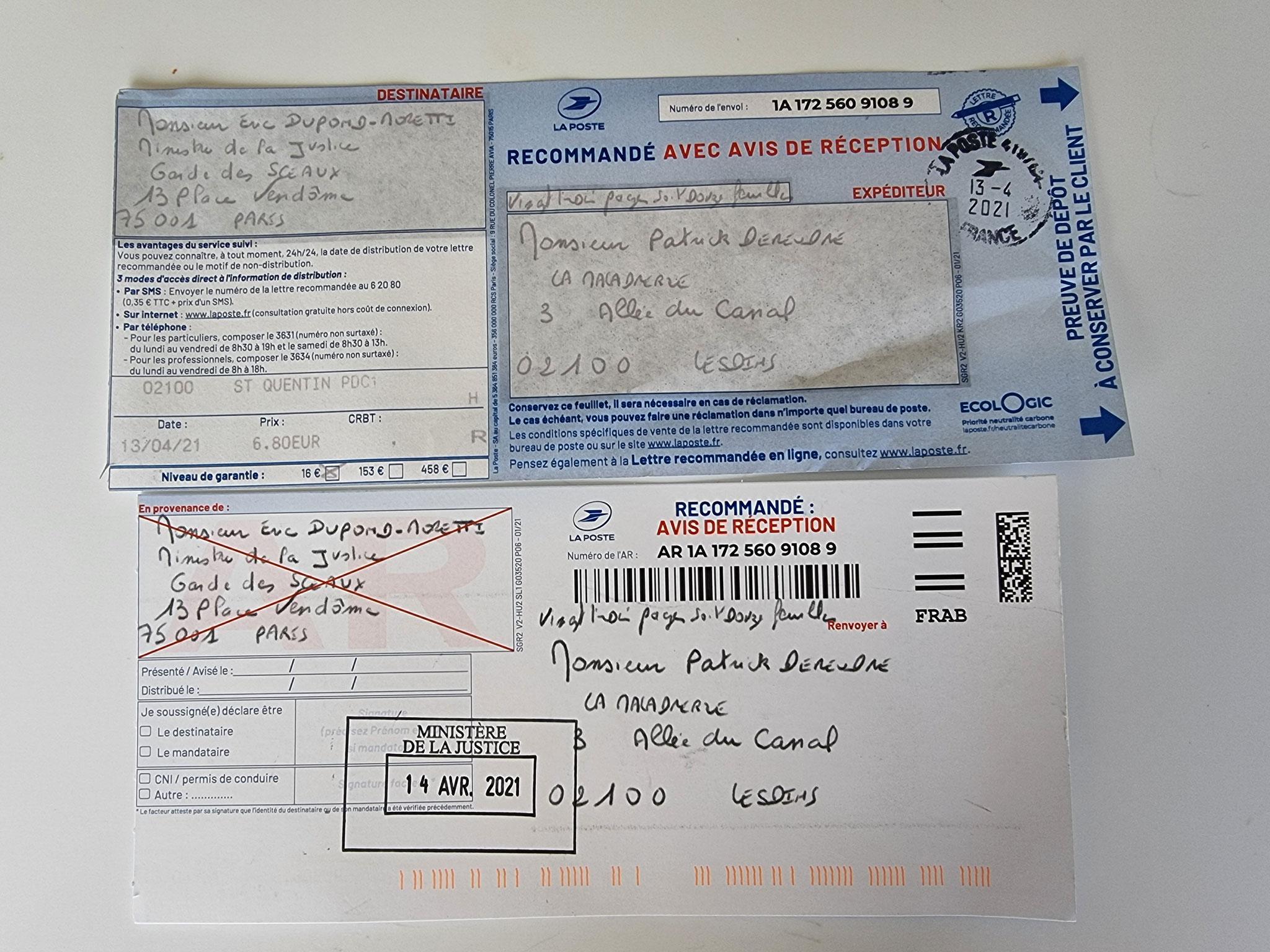 Monsieur Eric DUPOND-MORETTI Va t'il Briser la LOI DU SILENCE ? wwwjenesuispasunchien.fr www.jesuisvictime.fr www.jesuispatrick.fr PARJURE & CORRUPTION AU COEUR MÊME DE LA JUSTICE //LES MAFIAS CRIMINELLES EN BANDES ORGANISEES