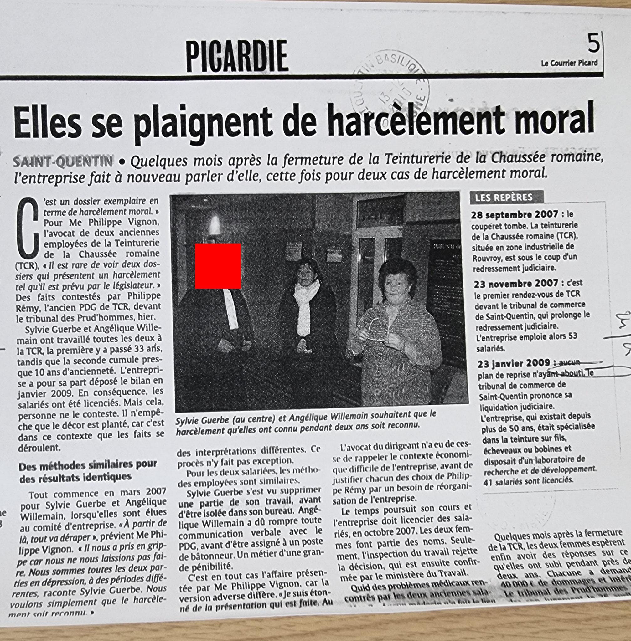 Le 01 décembre 2009 j'adresse une LRAR au THERMICIEN  www.jenesuispasunchien.fr www.jesuisvictime.fr www.jesuispatrick.fr