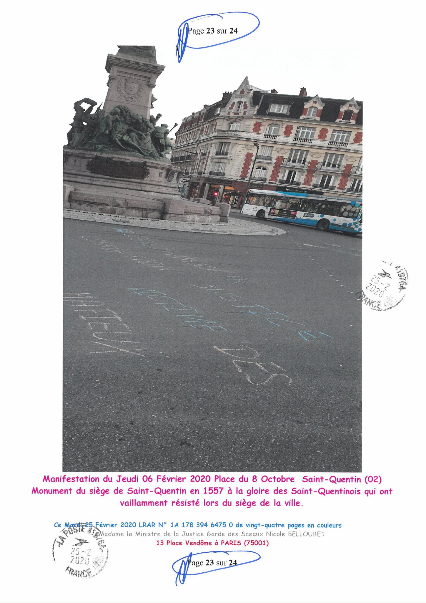 Ma LRAR à Madame Nicole BELLOUBET la Ministre de la Justice N0 1A 178 394 6475 0 Page 23 sur 24 en couleur  www.jesuispatrick.com www.jesuisvictime.fr www.alerte-rouge-france.fr