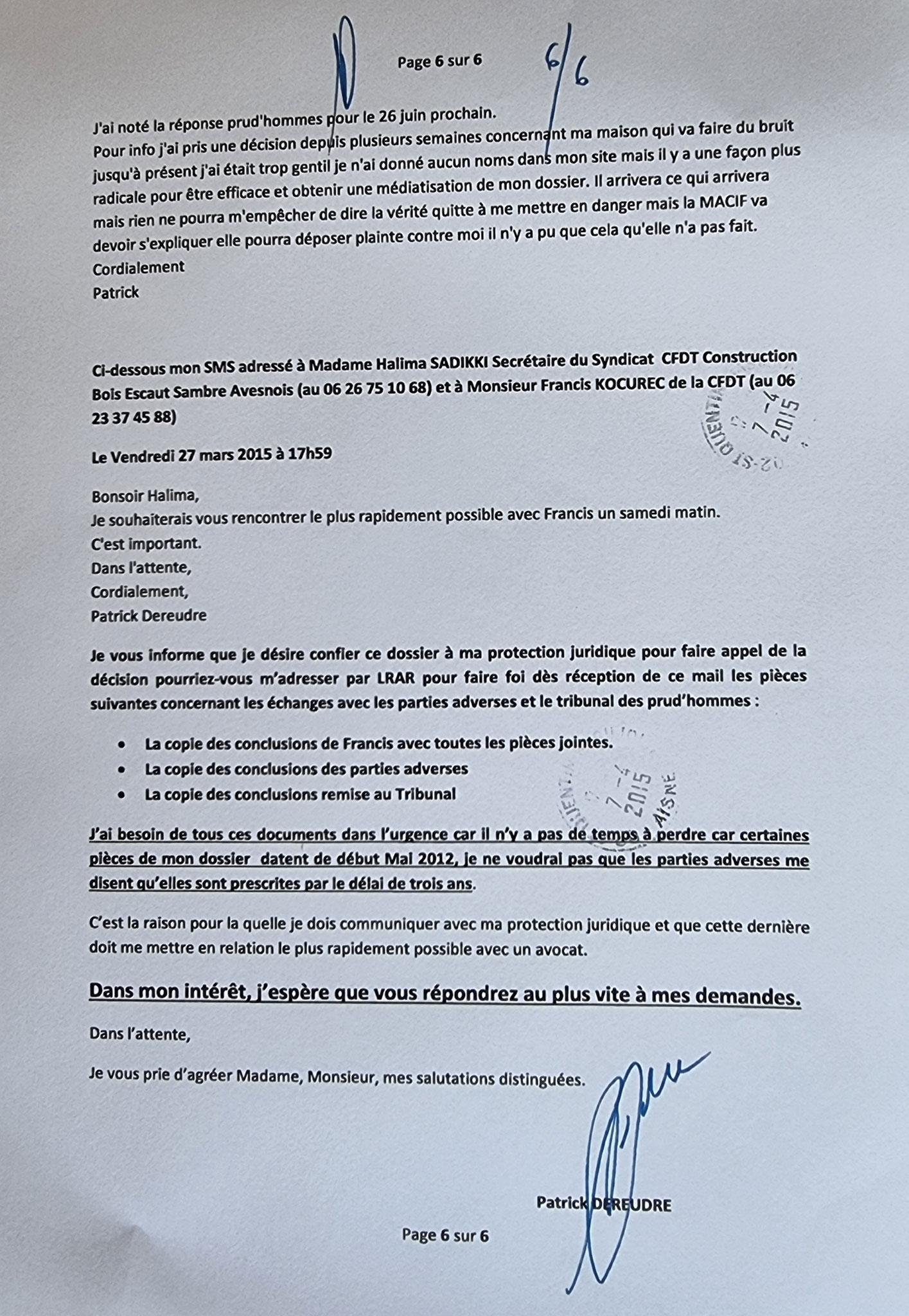 AFFAIRE CFDT Une énorme TROMPERIE, MANIPULATION #StopCorruption #StopTorturesMentales #StopViolences www.jenesuispasunchien.fr www.jesuispatrick.fr www.jesuisvictime.fr