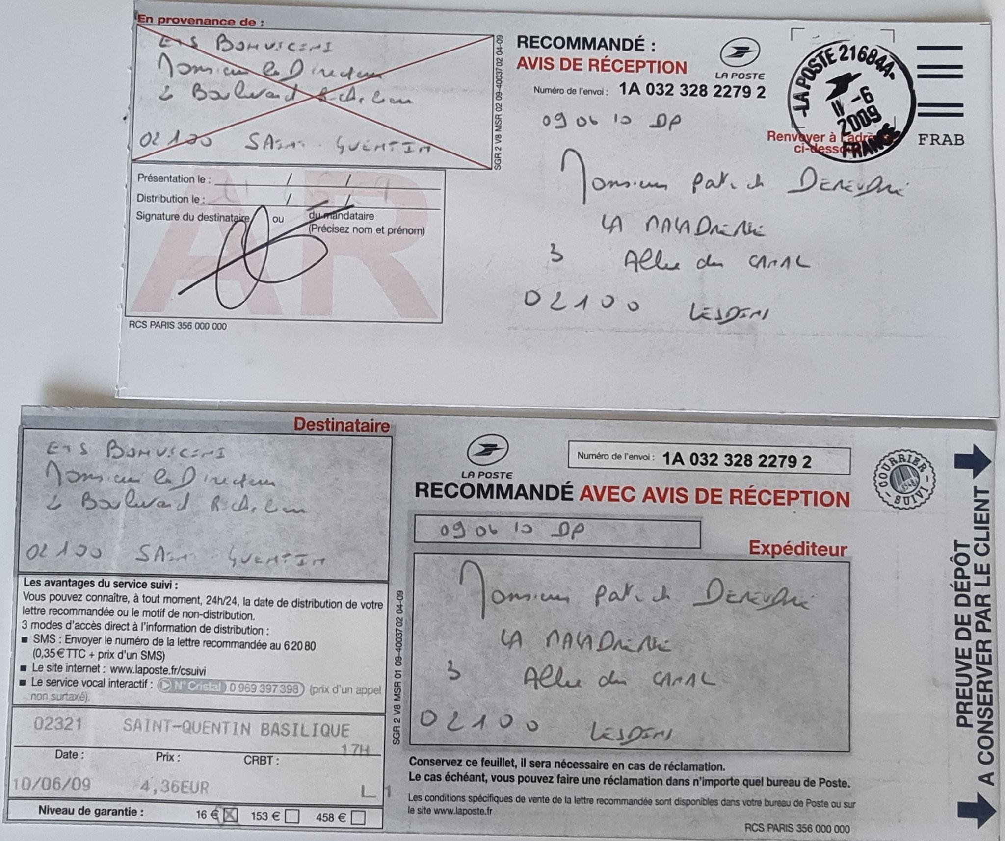 Le 10 Juin 2009 j'adresse une LRAR à Monsieur BONVICINI  suite à son intervention pour réparer une fuite de GAZ (Installation Alain ALLIOT)  INACCEPTABLE  BORDERLINE   EXPERTISES JUDICIAIRES ENTRE COPAINS www.jenesuispasunchien.fr www.jesuispatrick.fr
