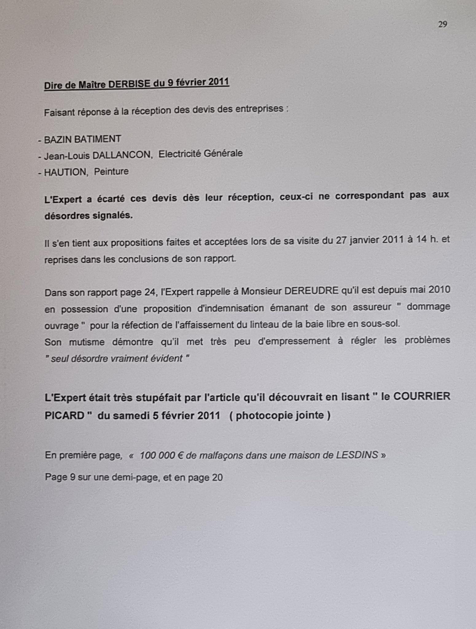 Rapport définitif de Février 2011 de Monsieur Bernard MARRON Expert Judiciaire www.stopcorruptionstop.fr www.jenesuispasunchien.fr www.jesuisvictime.fr www.jesuispatrick.fr