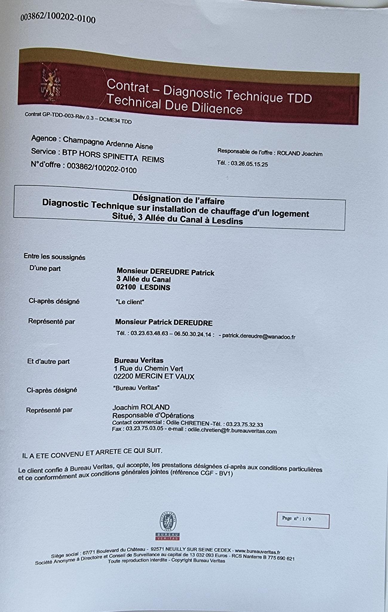 Le BUREAU VERITAS M'adresse par mail un devis pour une intervention en avril 2010. www.jesuisvictime.fr www.jesuispatrick.fr