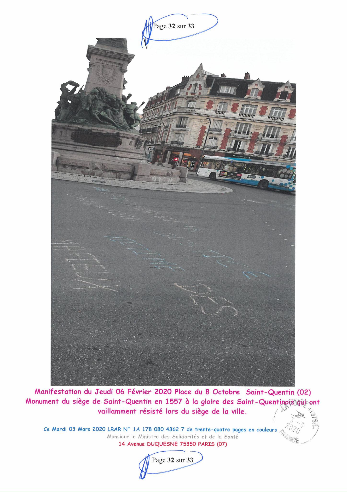 Page 32 sur 33 Ma lettre recommandée N0 1A 178 080 4362 7 du 03 Mars 2020 à Monsieur Olivier VERAN le Ministre de la Santé et des Solidarités www.jesuispatrick.fr www.jesuisvictime.fr www.alerte-rouge-france.fr