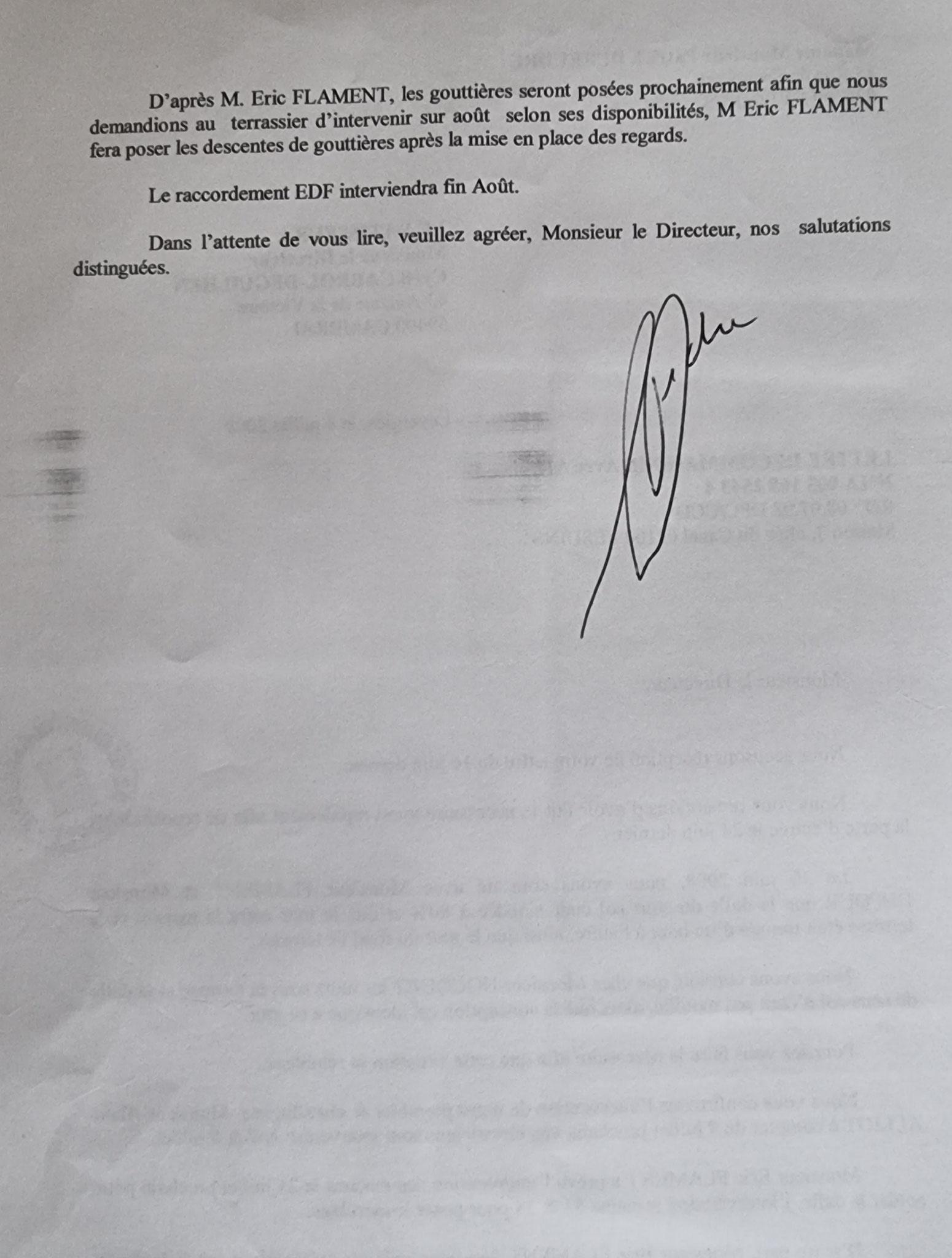 En date du 08 Juillet 2008, j'adresse une LRAR à Monsieur Cyril CABROL le Directeur de notre constructeur LE BATISSEUR à CAMBRAI entreprise aujourd'hui en faillite www.jenesuispasunchien.fr www.jesuispatrick.fr www.jesuisvictime.fr