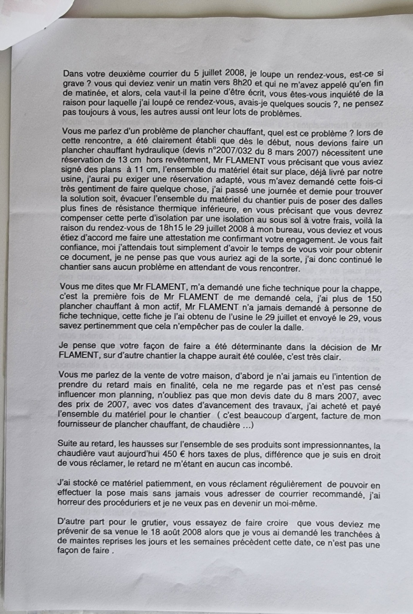 Monsieur Alain ALLIOT nous a adressé en date du 20 Août 2008 une lettre recommandée N0 1A 020 760 5323 2 soit quatre pages CALONMIEUSES et CHOQUANTES www.jenesuispasunchien.fr www.jesuisvictime.fr www.jesuispatrick.fr JUSTICE DEVRA NOUS ÊTRE RENDUE..