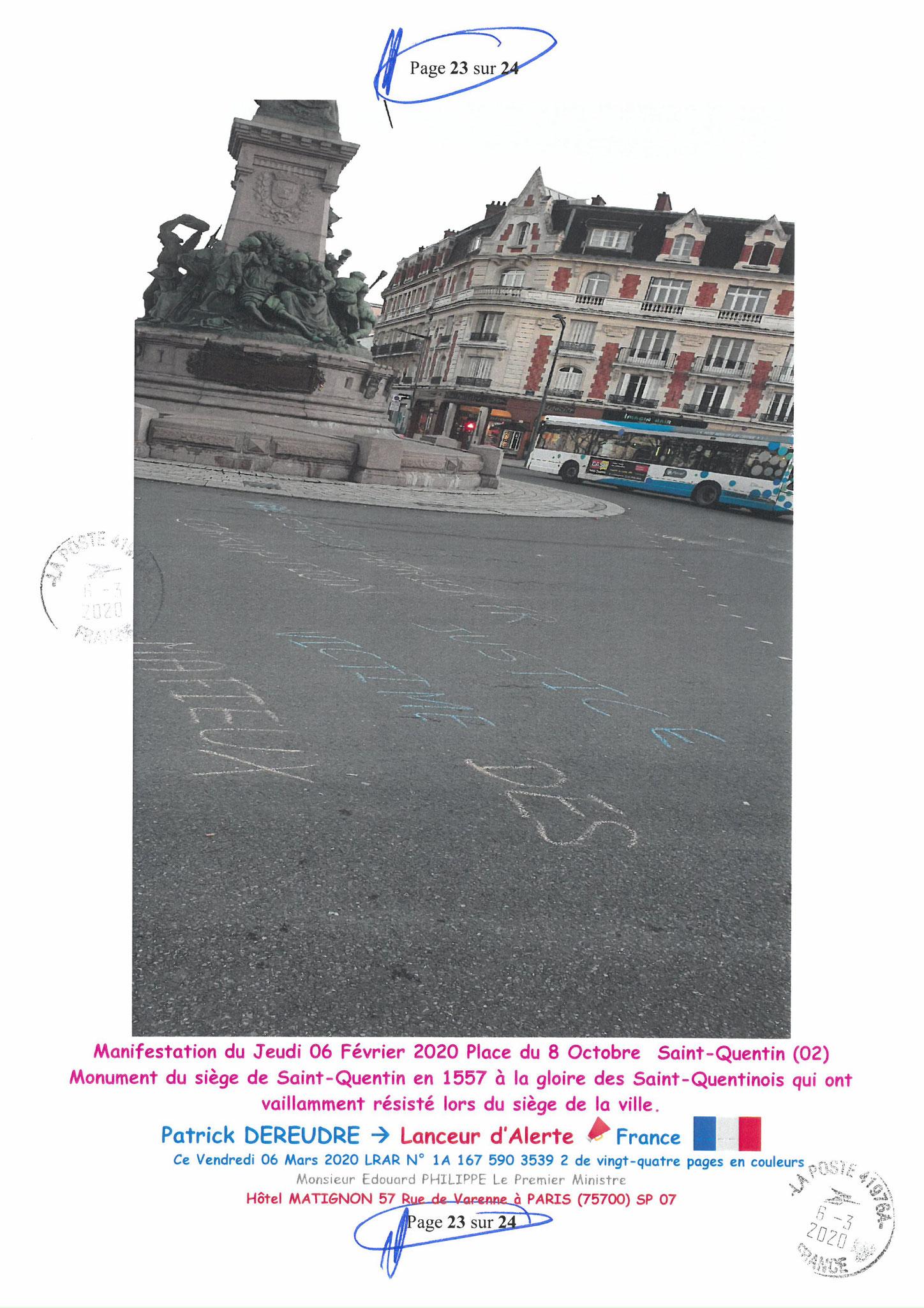 Ma LRAR à Monsieur le  Premier Ministre Edouard PHILIPPE N° 1A 167 590 3539 2 Page 23 sur 24 en Couleur du 06 Mars 2020  www.jesuispatrick.fr www.jesuisvictime.fr www.alerte-rouge-france.fr