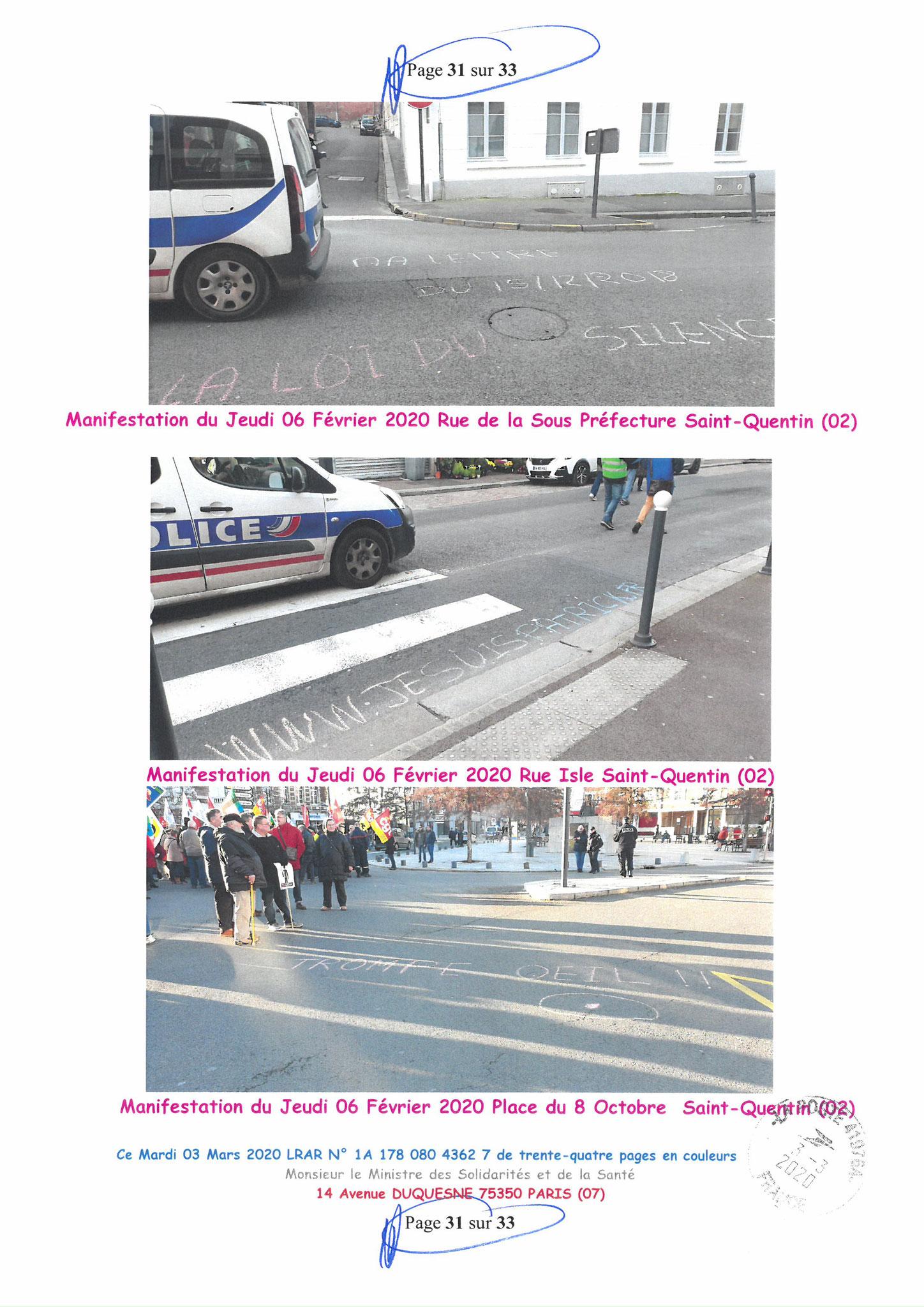Page 31 sur 33 Ma lettre recommandée N0 1A 178 080 4362 7 du 03 Mars 2020 à Monsieur Olivier VERAN le Ministre de la Santé et des Solidarités www.jesuispatrick.fr