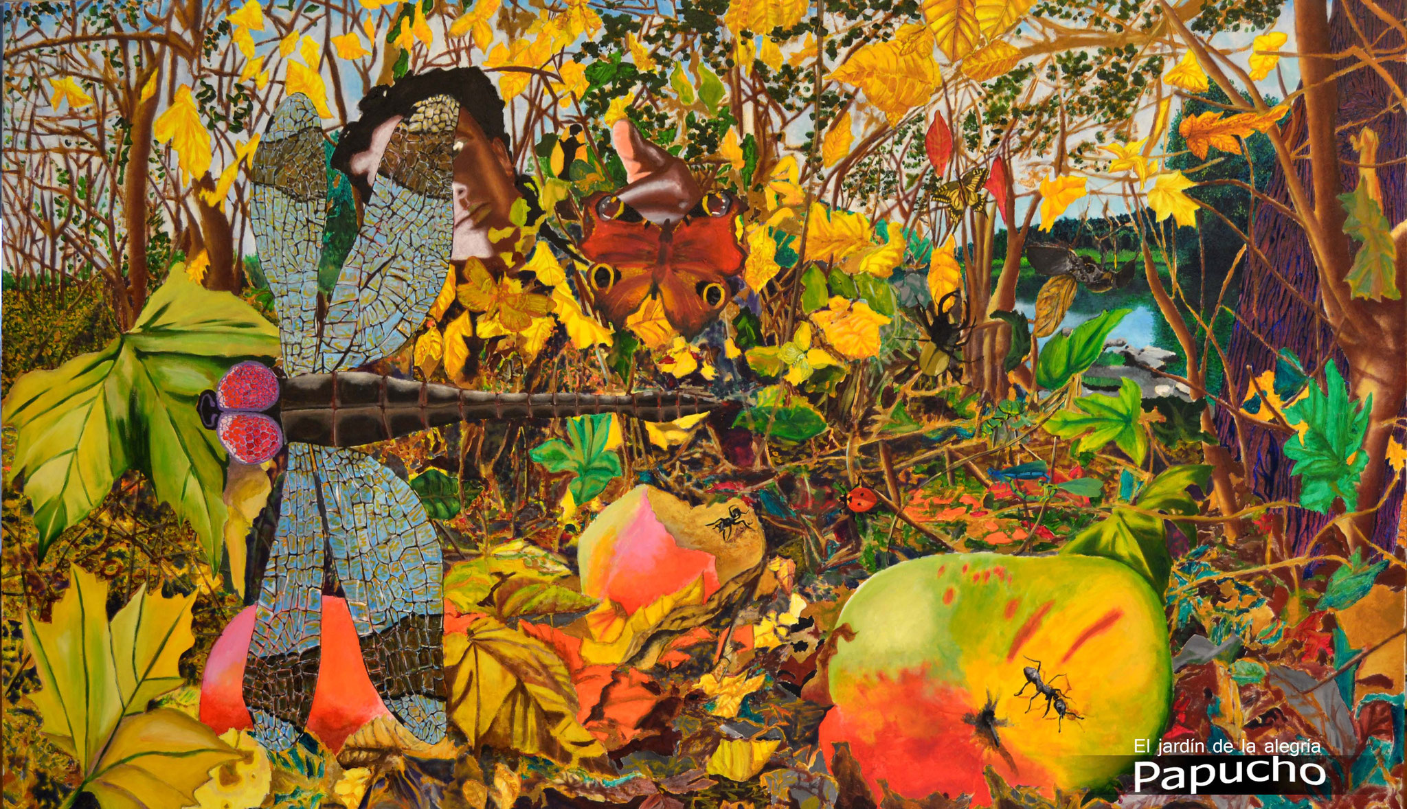 El jardín de la alegría/Acryl und Öl auf Leinwand/115x200cm. (als Original Verfügbar)