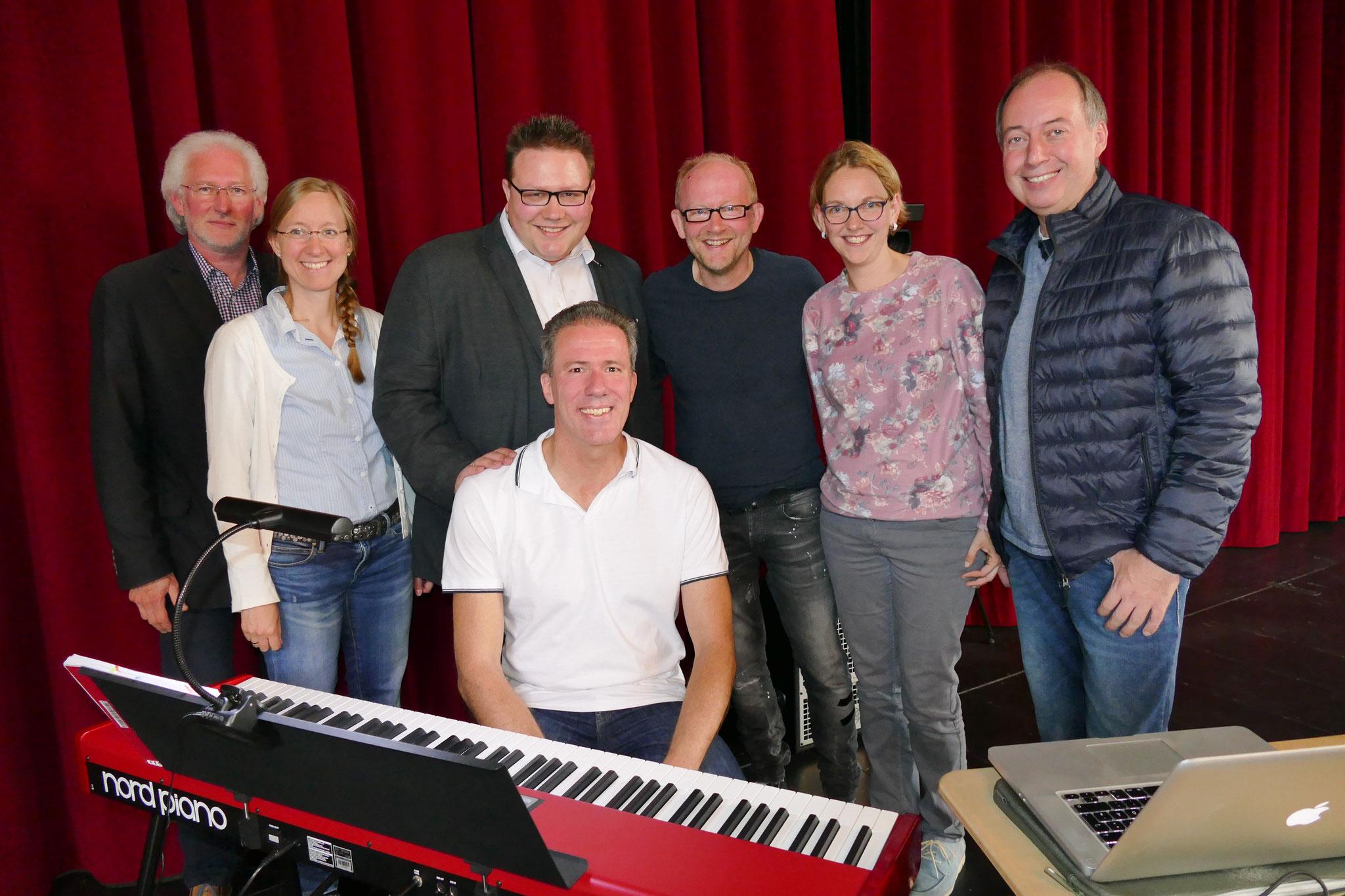 das Team der Chorleiter mit Jason Weaver und Dominik Lapp